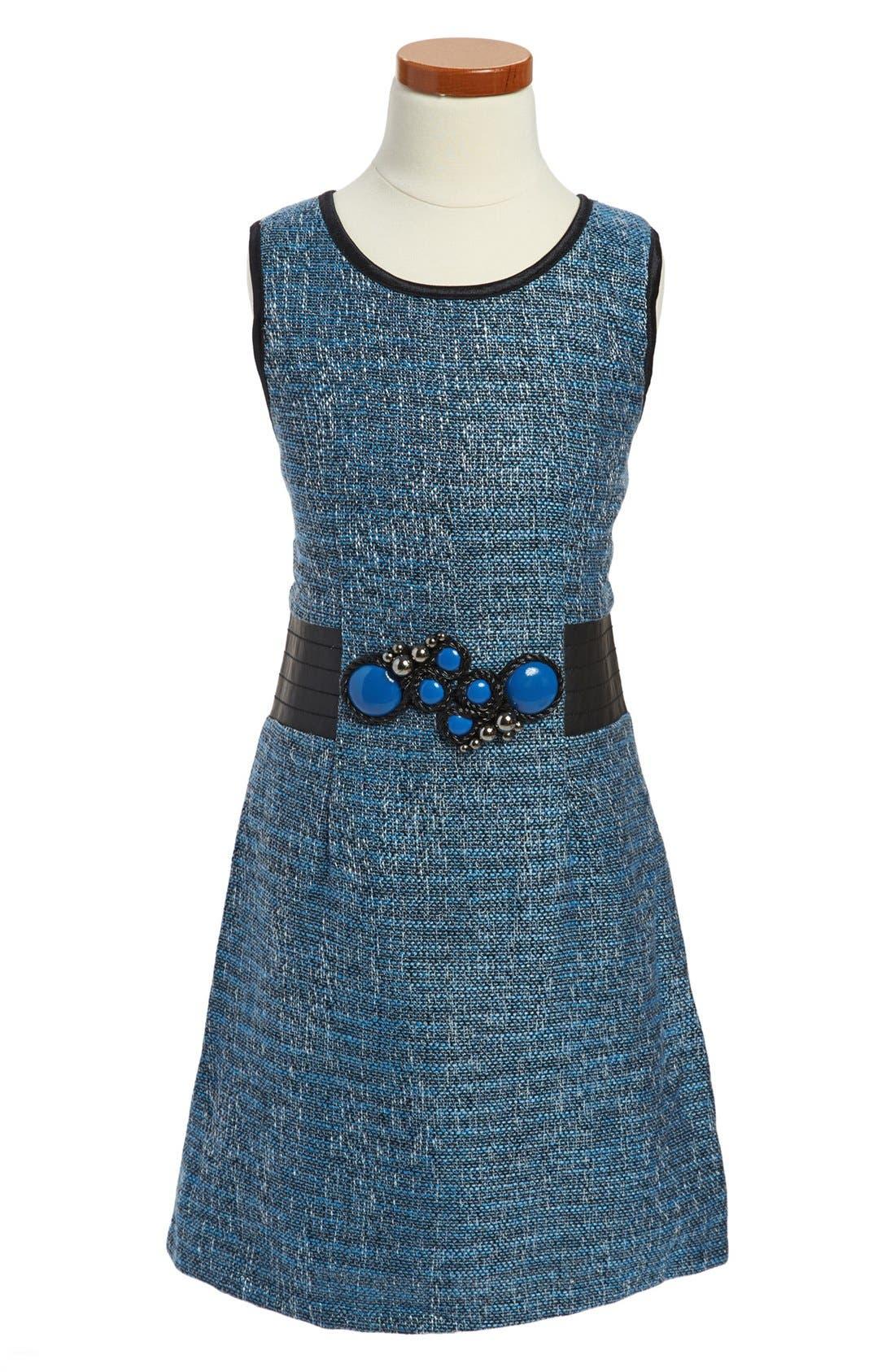 Main Image - Laundry by Shelli Segal 'Gemma' Tweed Dress (Big Girls)