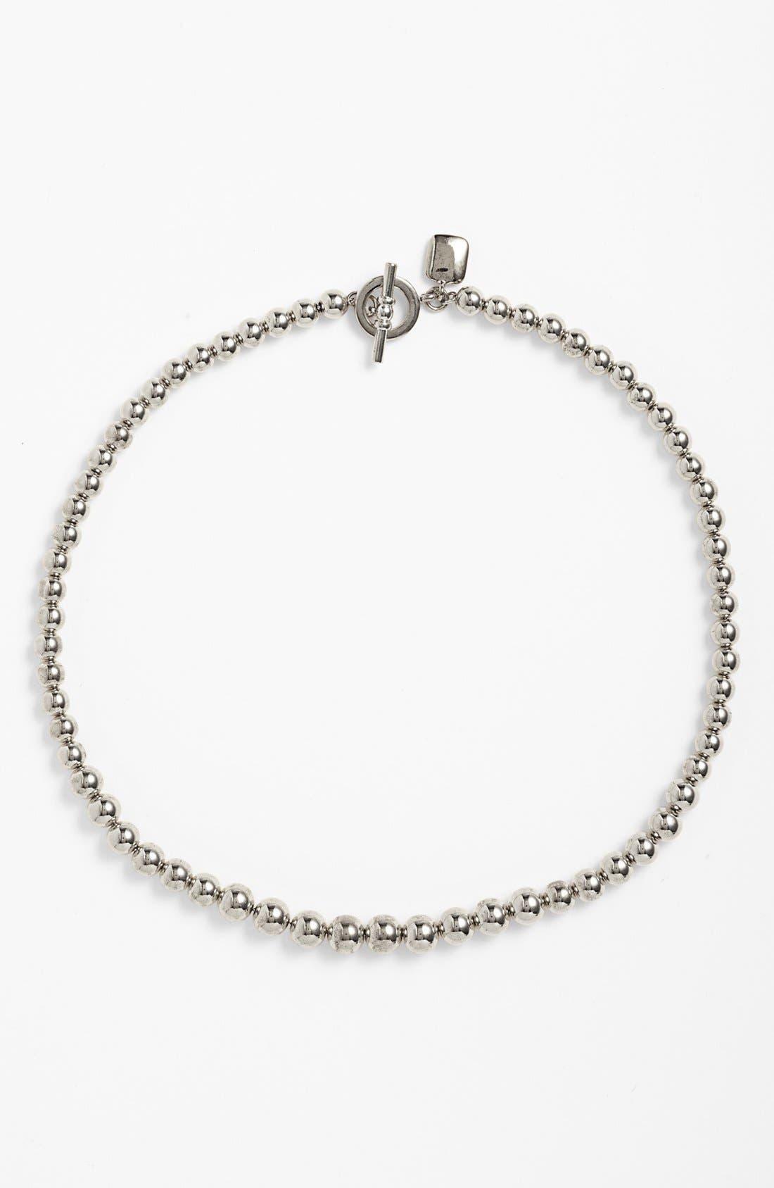 Alternate Image 1 Selected - Lauren Ralph Lauren Graduated Metal Bead Necklace