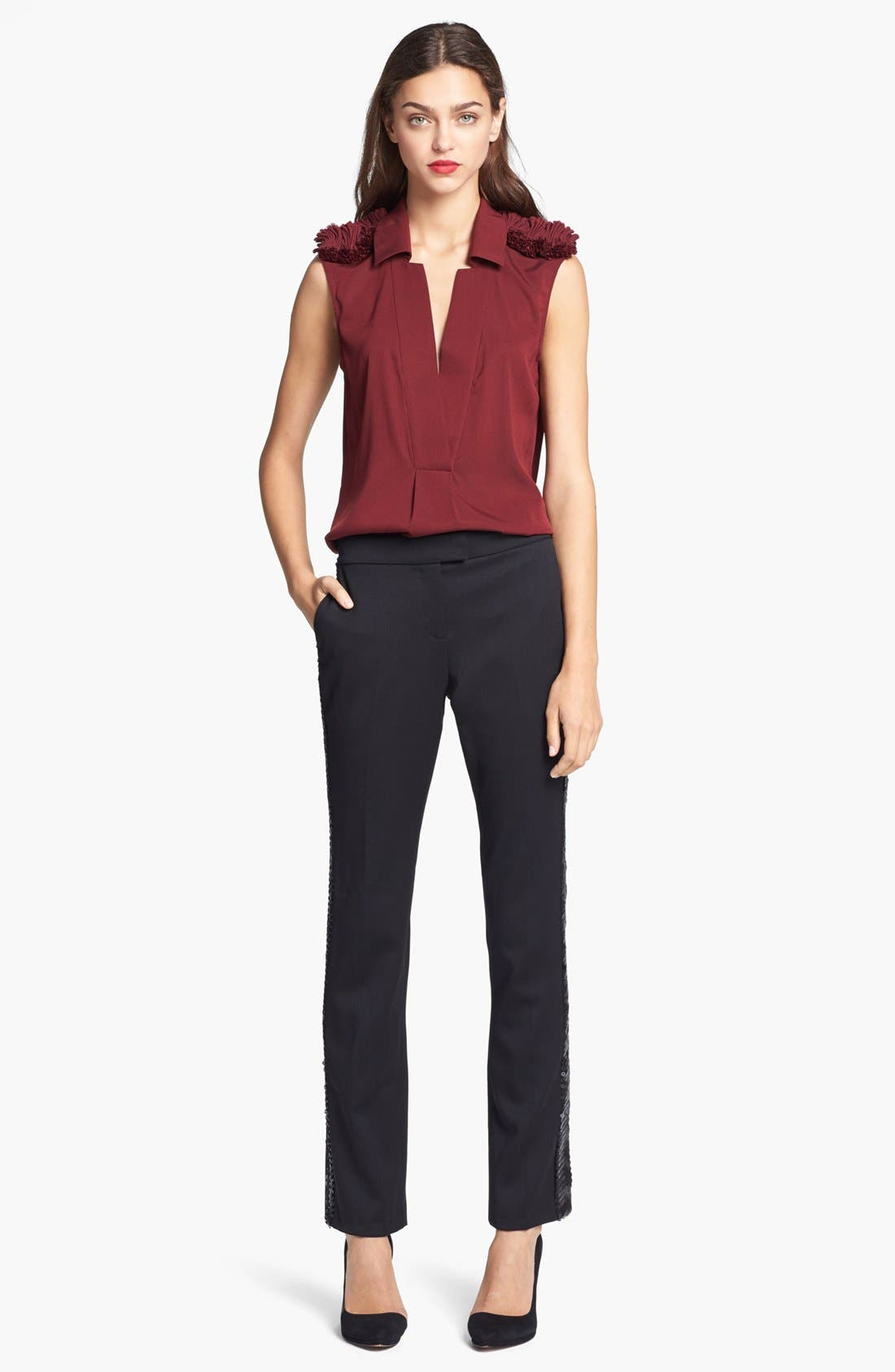 Alternate Image 2  - Rachel Zoe 'Fiona' Ruffled Epaulet Blouse