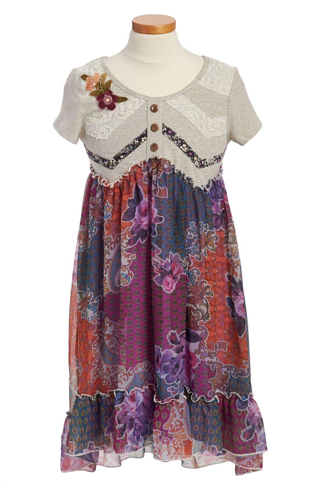 Main Image - Truly Me High/Low Dress (Big Girls)