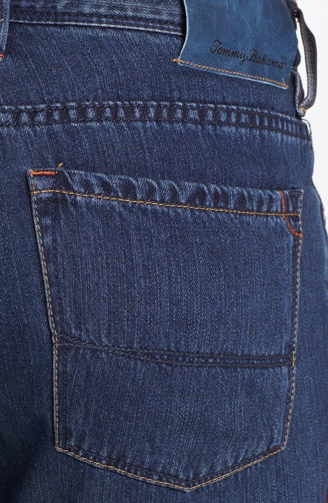 Alternate Image 4  - Tommy Bahama Denim 'Coastal Island' Standard Fit Jeans (Dark Storm)