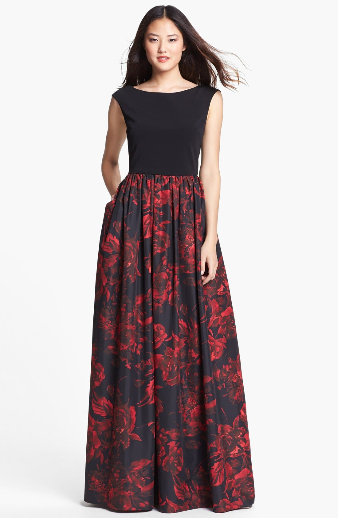 Alternate Image 1 Selected - Aidan Mattox Fit & Flare Gown
