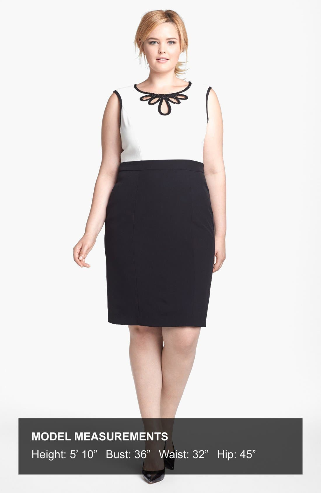 Alternate Image 4  - Adrianna Papell Embellished Crepe Sheath Dress (Plus Size)