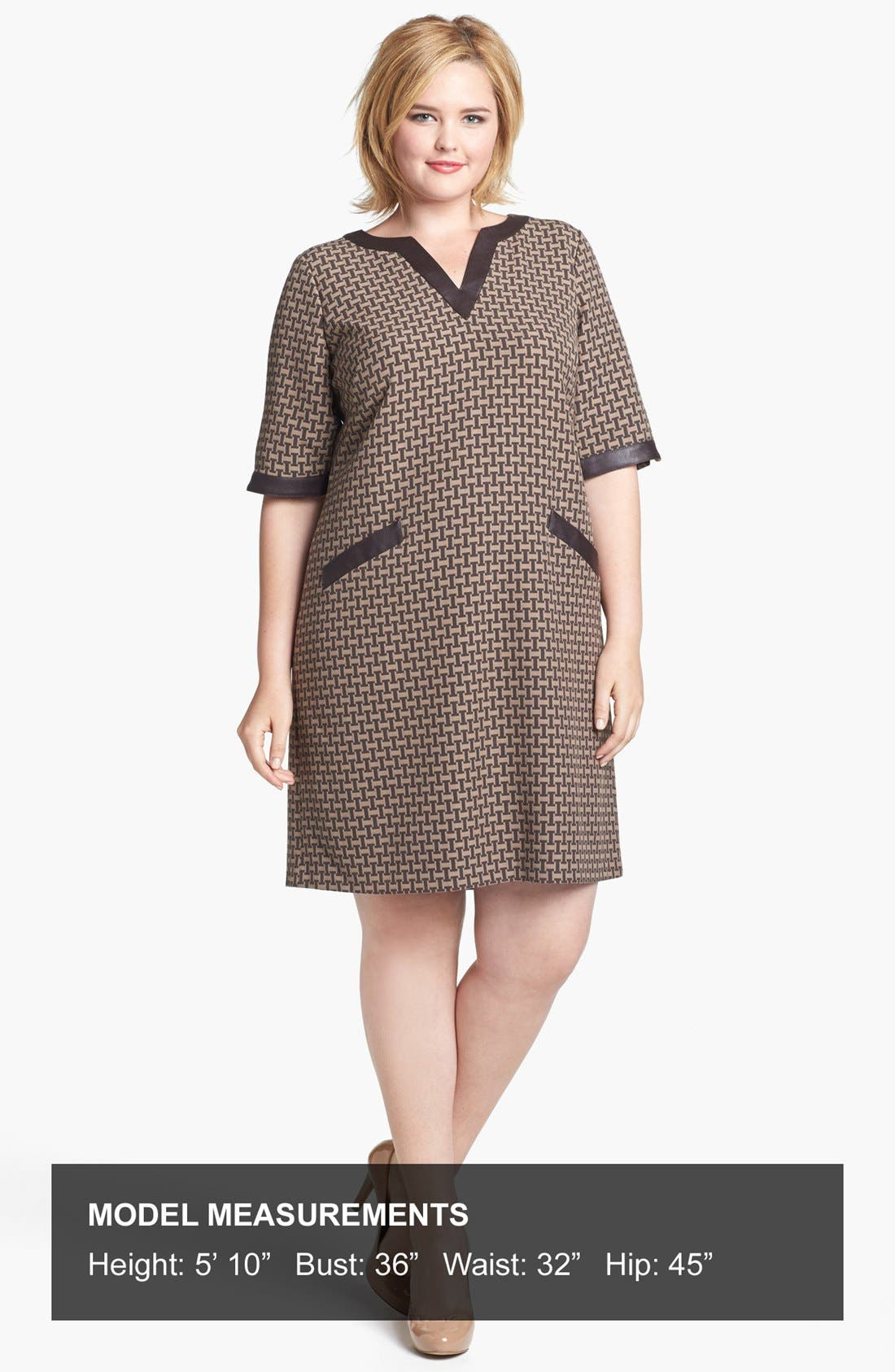 Alternate Image 4  - Ivy & Blu Jacquard Shift Dress (Plus Size)