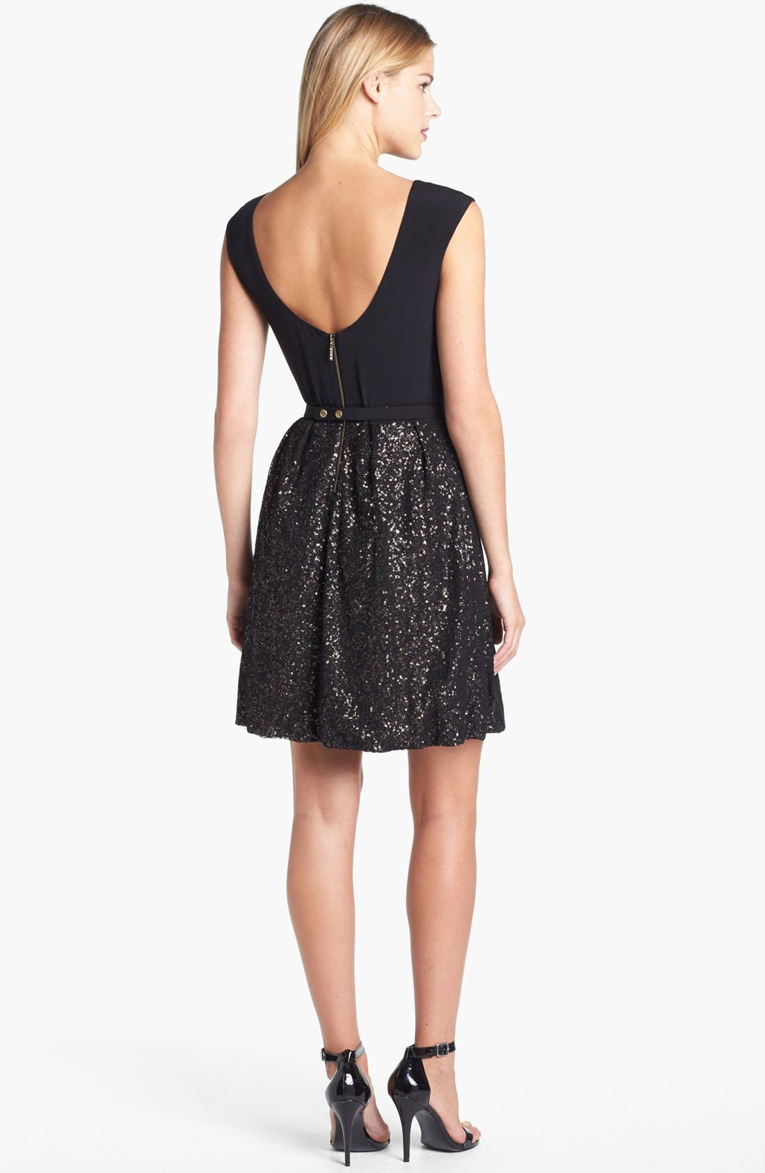 Alternate Image 2  - Laundry by Shelli Segal Embellished Jersey Fit & Flare Dress