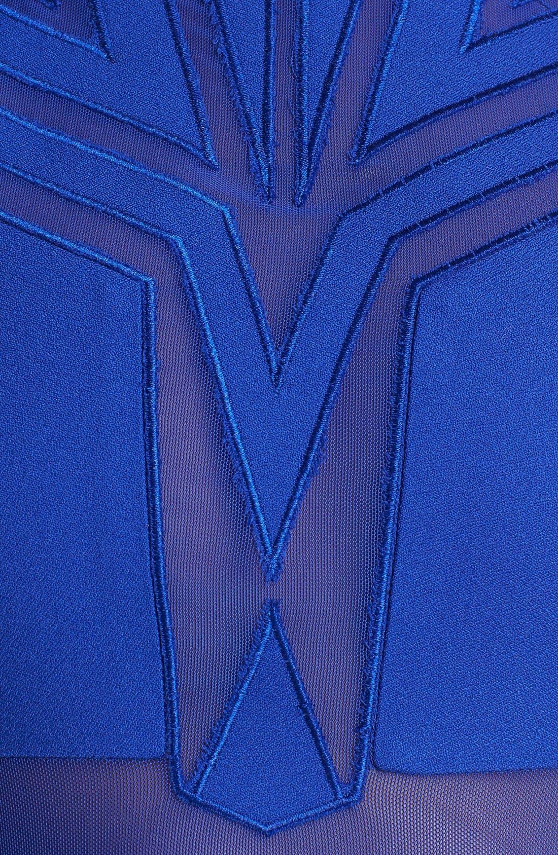Alternate Image 3  - ASTR Sheer Panel Fit & Flare Dress