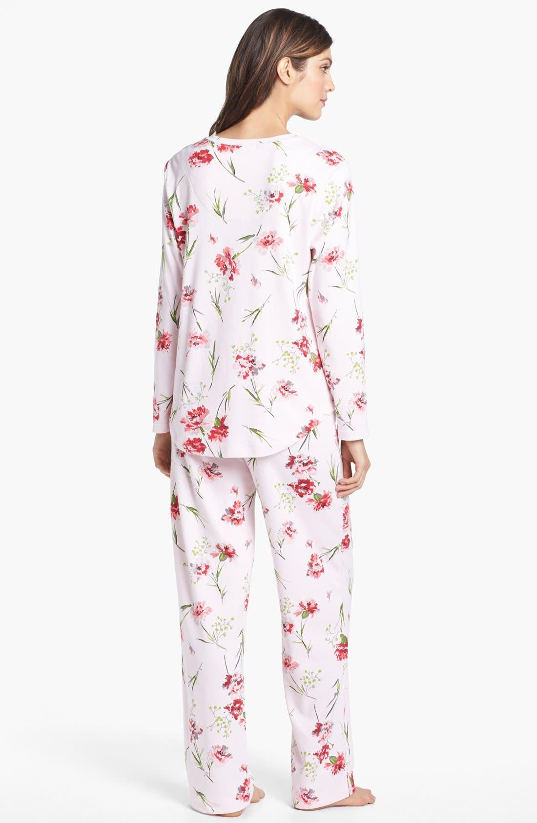 Alternate Image 2  - Carole Hochman Designs Knit Pajamas