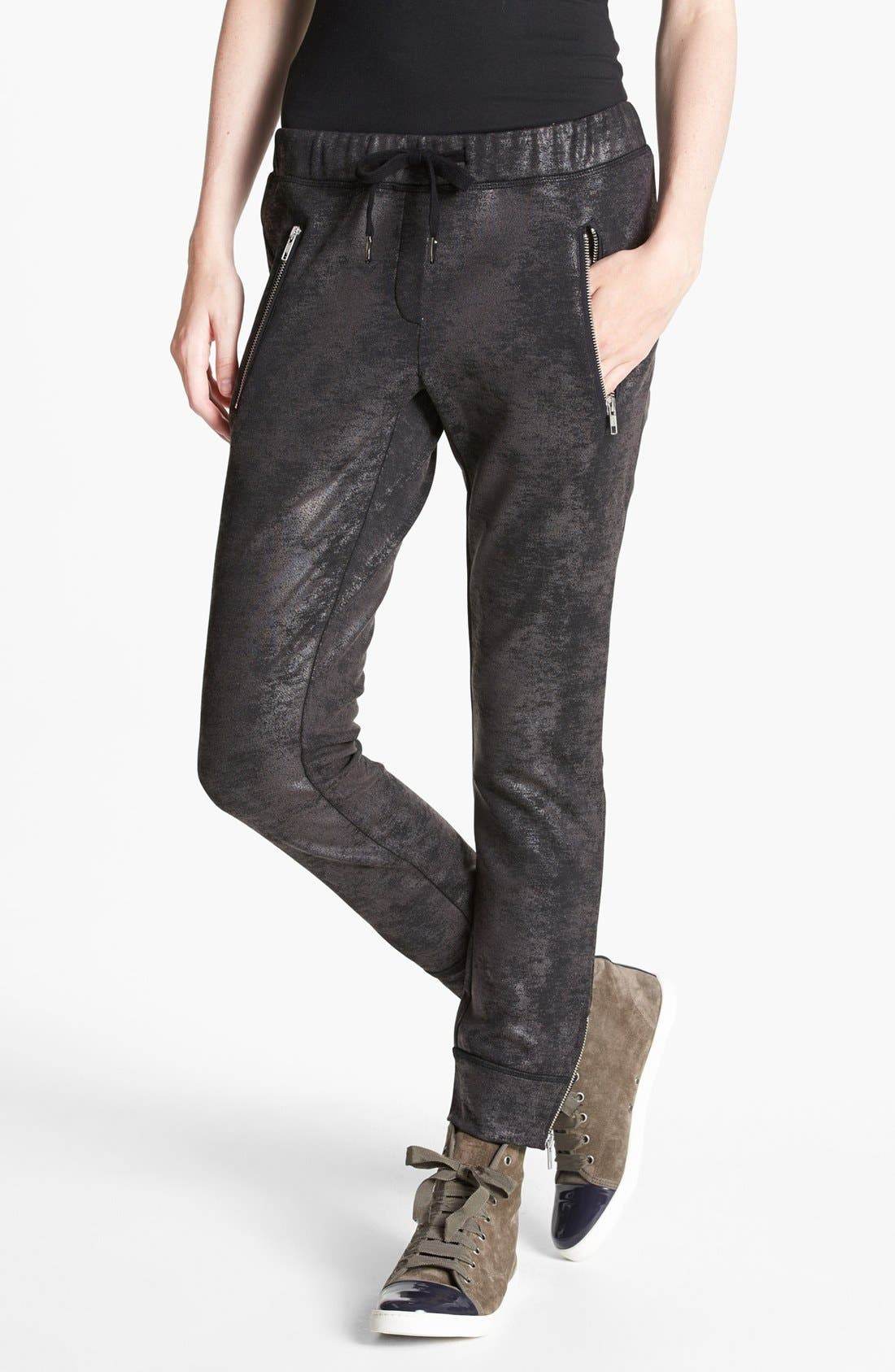 Main Image - The Kooples 'Oil Slick' Print Sweatpants