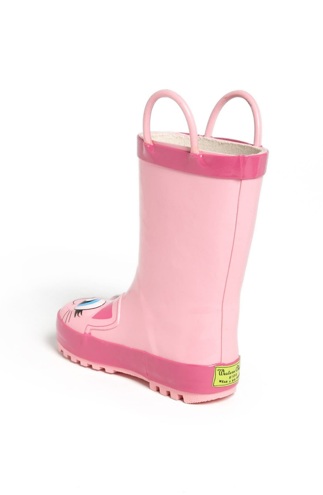 'Kitty' Rain Boot,                             Alternate thumbnail 3, color,                             Pink