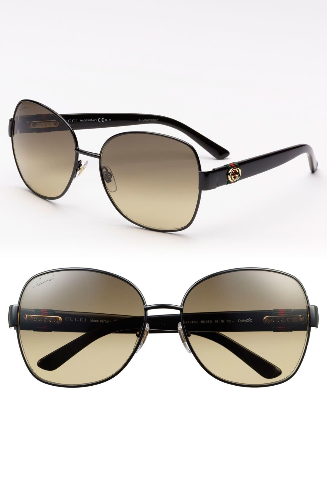 Alternate Image 1 Selected - Gucci 59mm Oversized Sunglasses