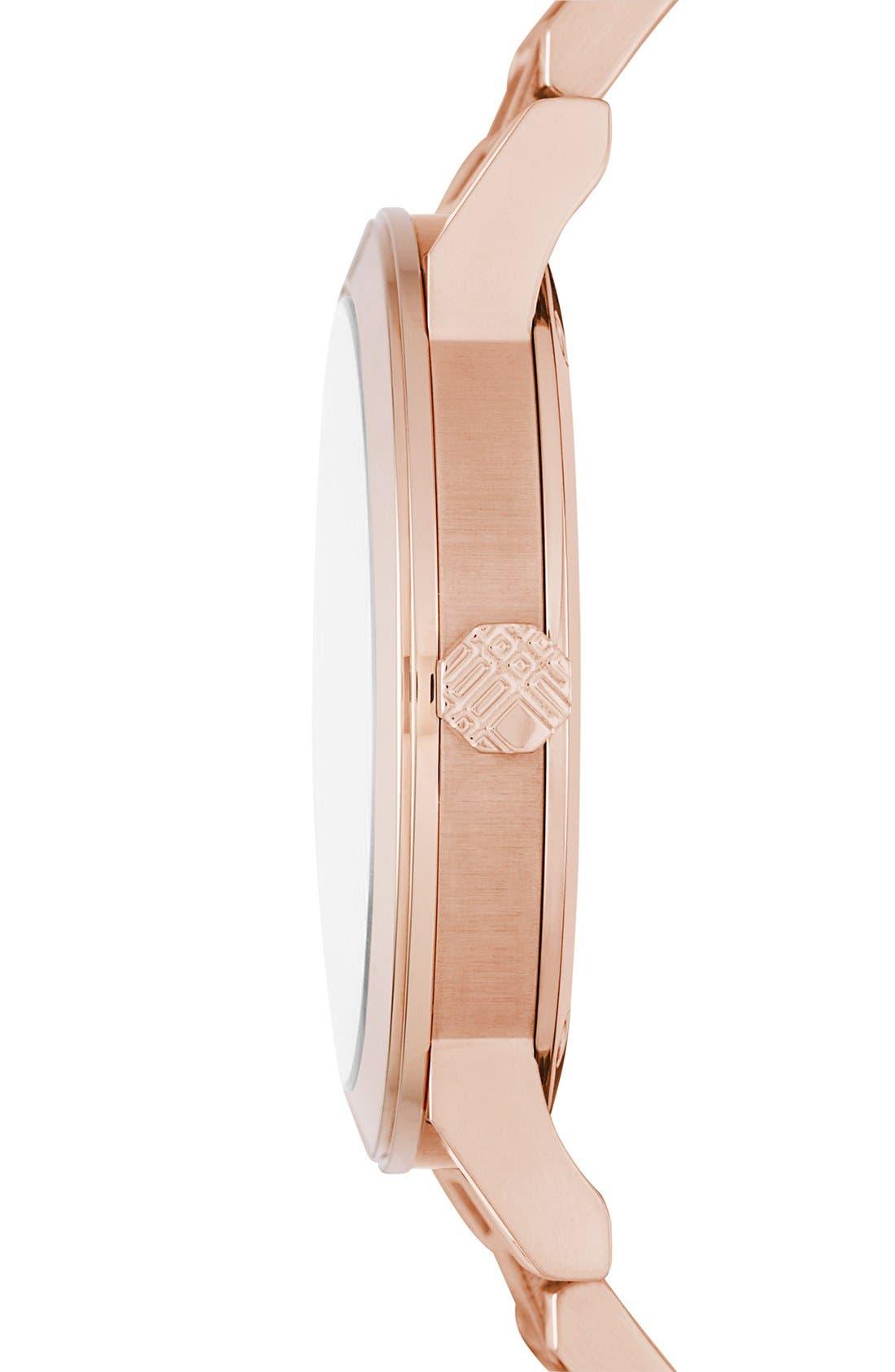 Alternate Image 3  - Burberry Large Check Stamped Bracelet Watch, 38mm