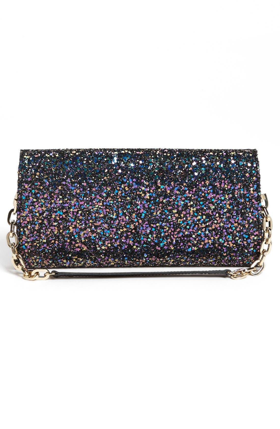 Alternate Image 4  - Jimmy Choo 'Riane' Glitter Clutch