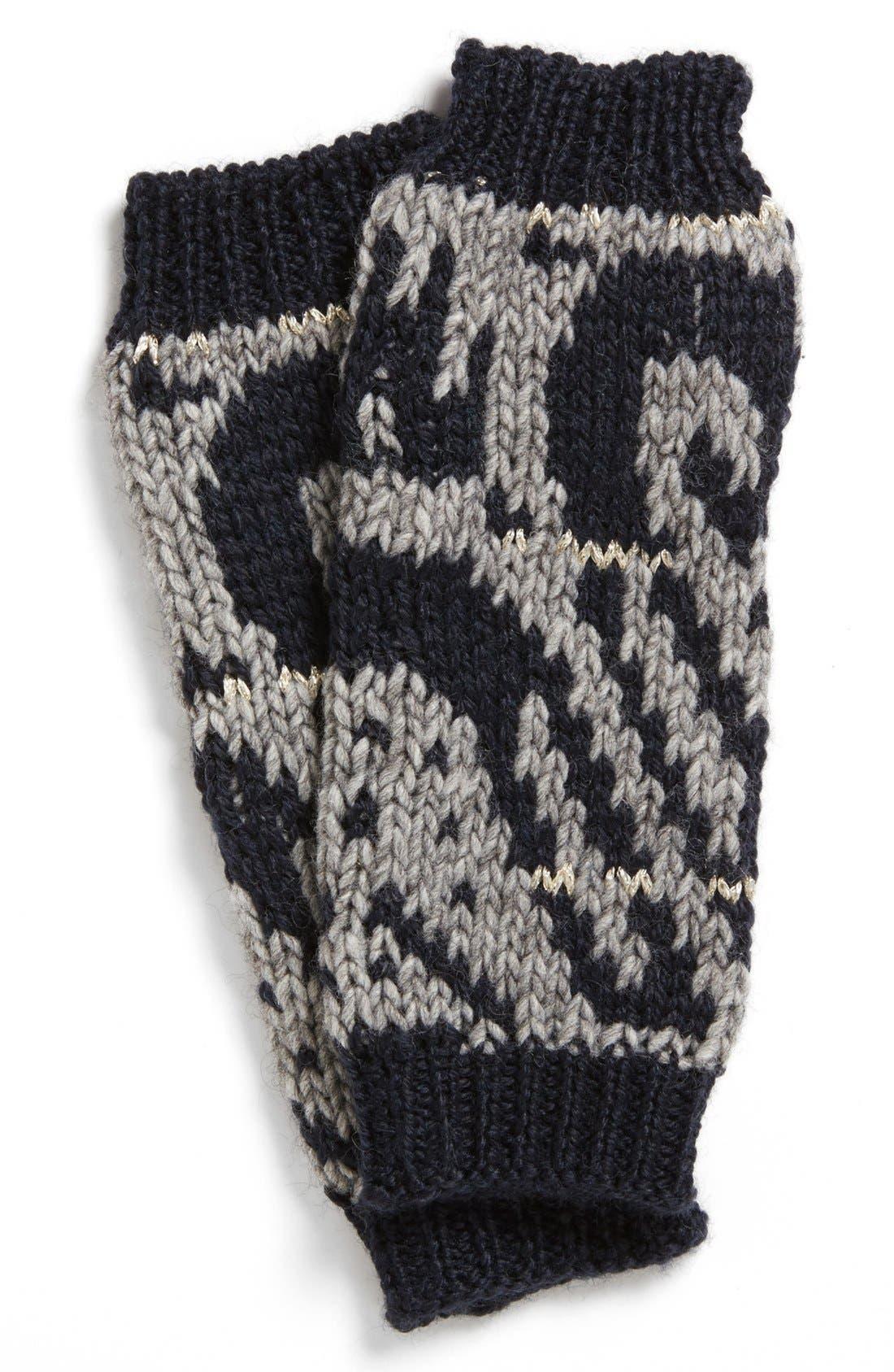 Main Image - Nordstrom 'Brocade' Intarsia Knit Fingerless Gloves