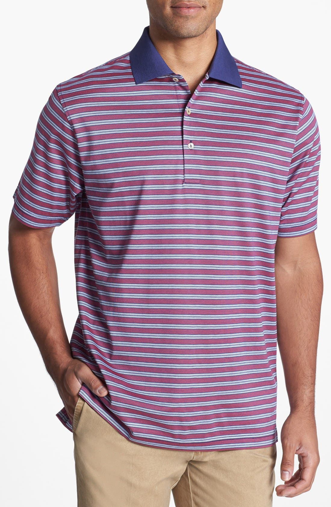 Alternate Image 1 Selected - Peter Millar 'Laddie Stripe' Polo