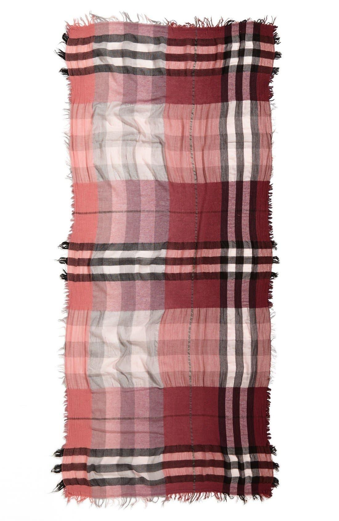Alternate Image 2  - Nordstrom Plaid Wool Blend Scarf