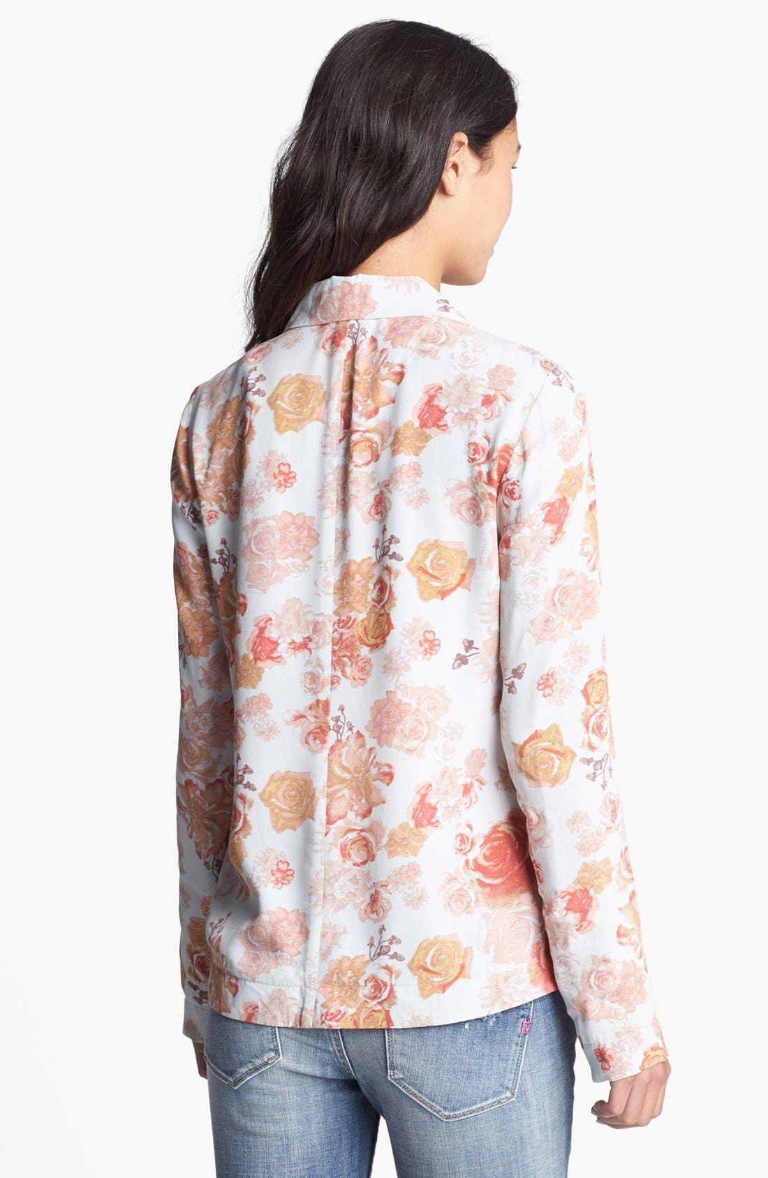 Alternate Image 2  - BCNU Floral Print Blazer (Juniors)