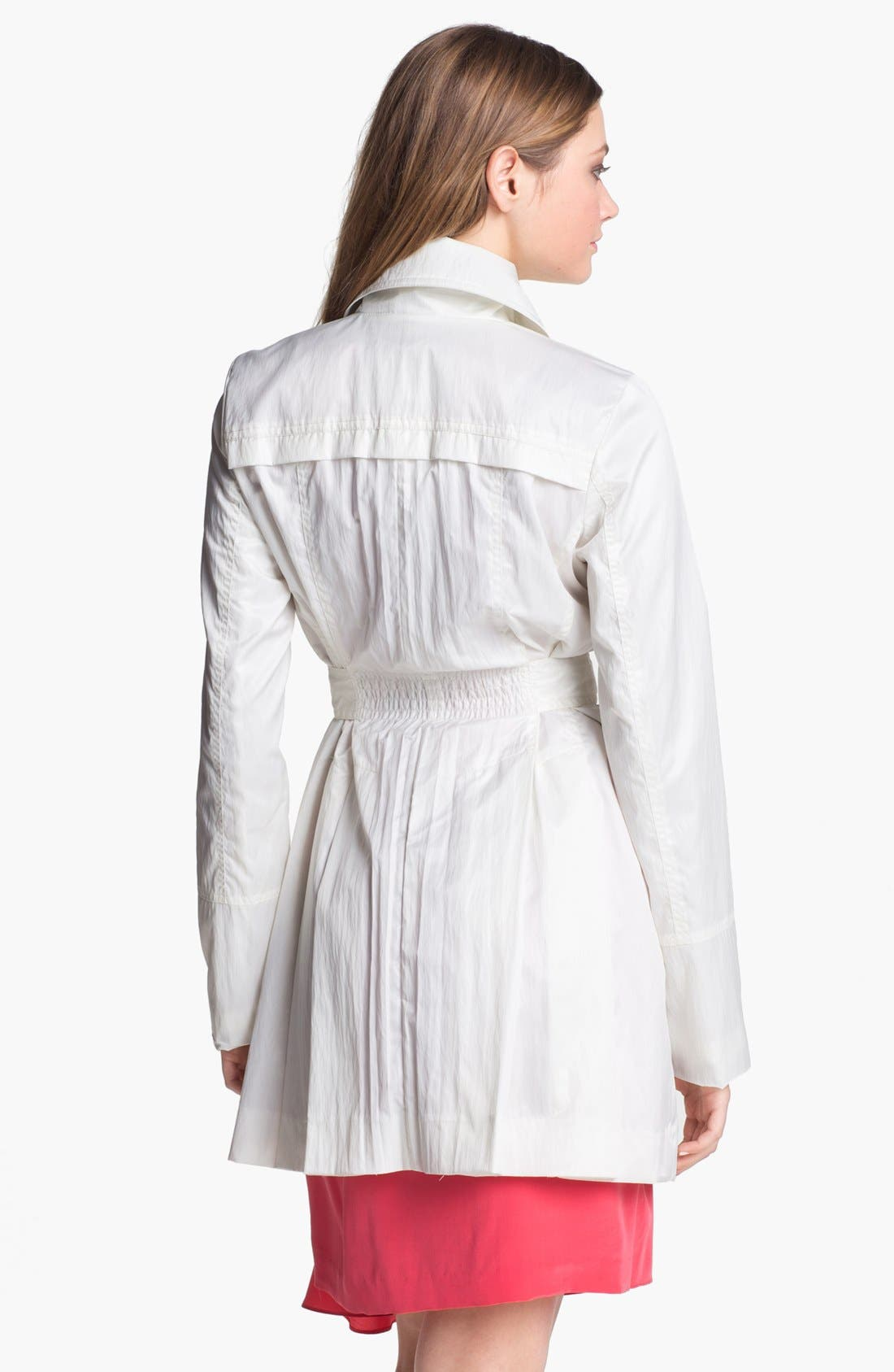 Alternate Image 2  - GUESS Cinch Waist Trench Coat (Petite)