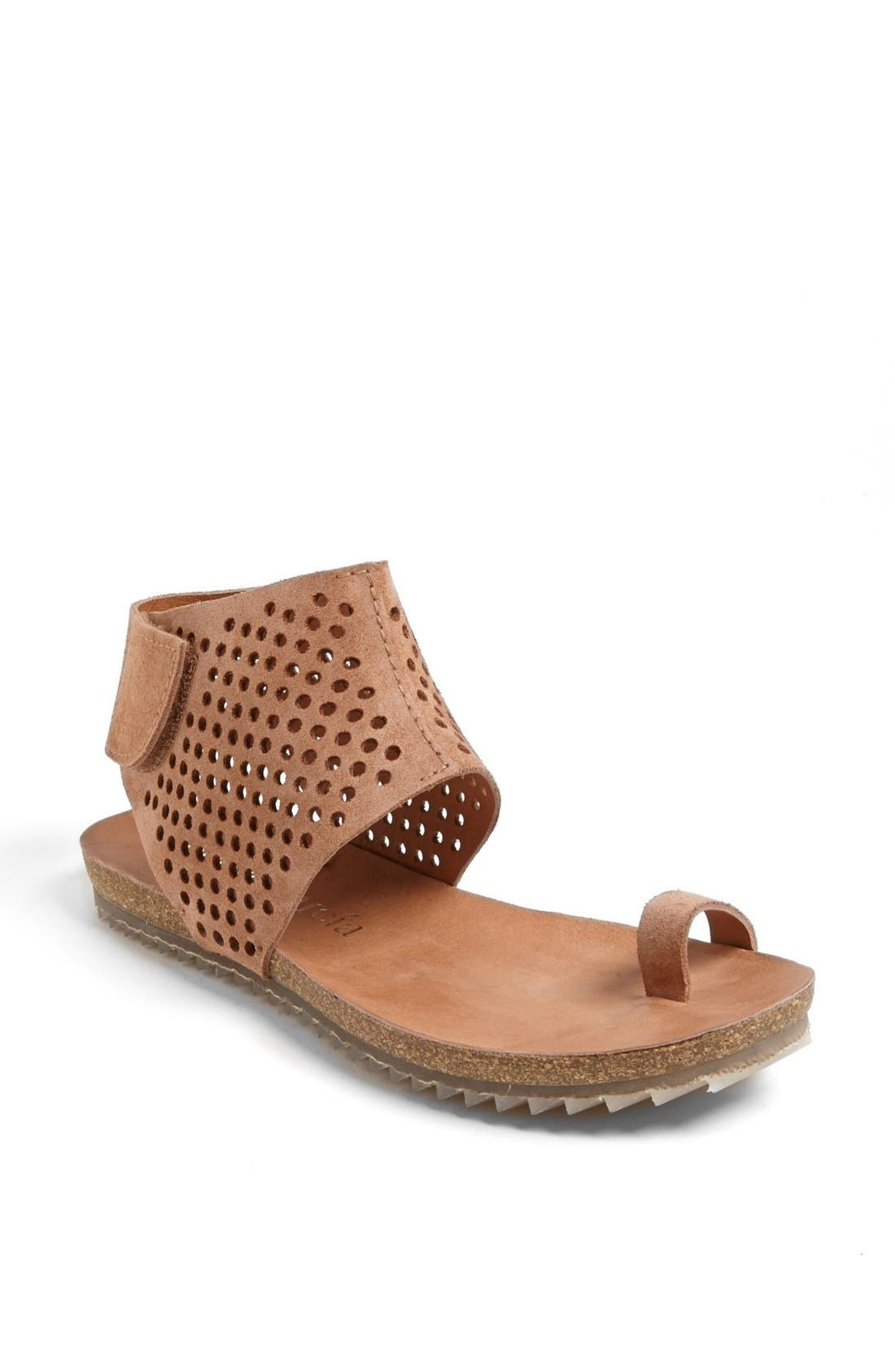 Main Image - Pedro Garcia Perforated Ankle Cuff Sandal (Women)