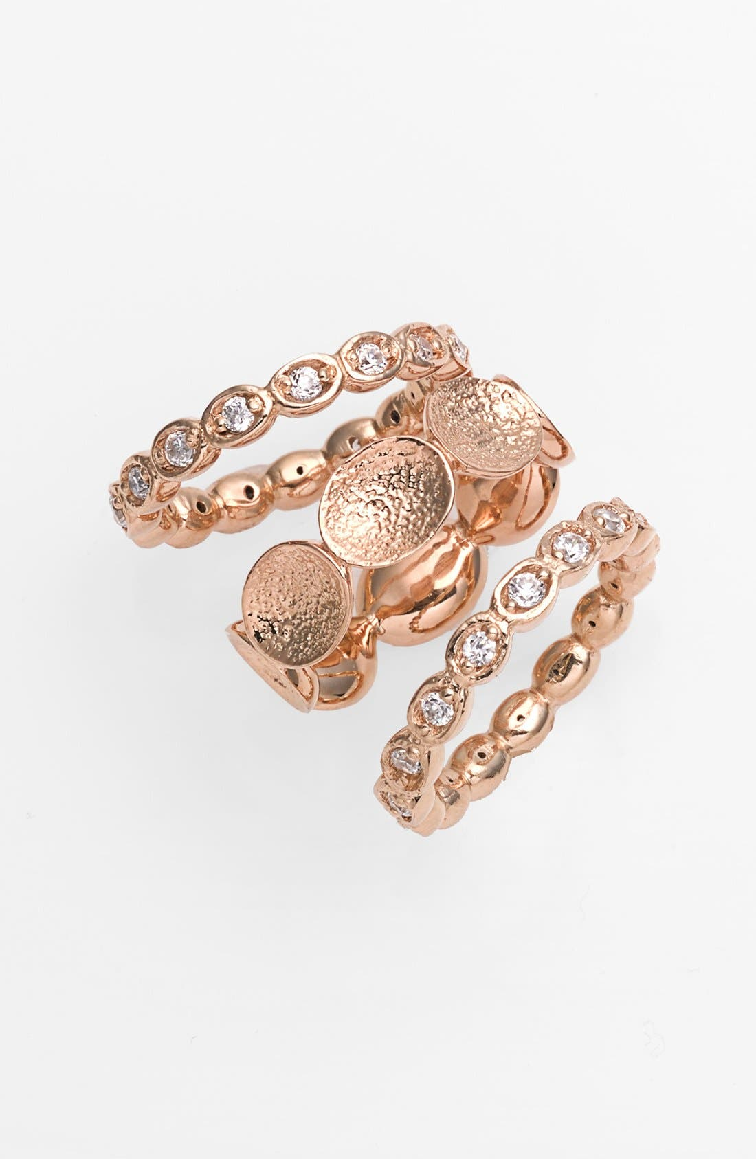 Main Image - Melinda Maria 'Odette' Pod Stackable Rings (Set of 3)