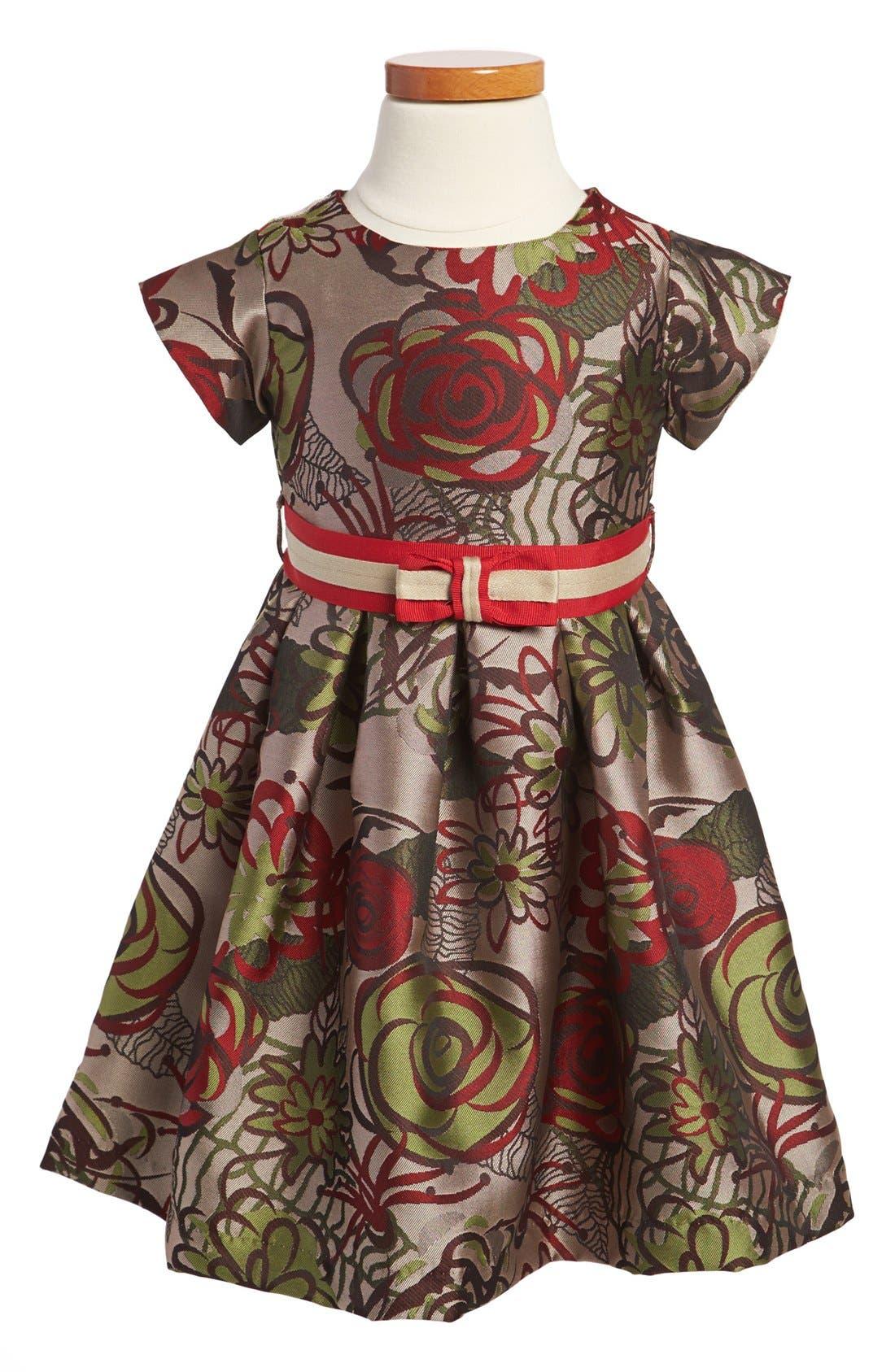 Alternate Image 1 Selected - Us Angels Jacquard Dress (Toddler Girls)