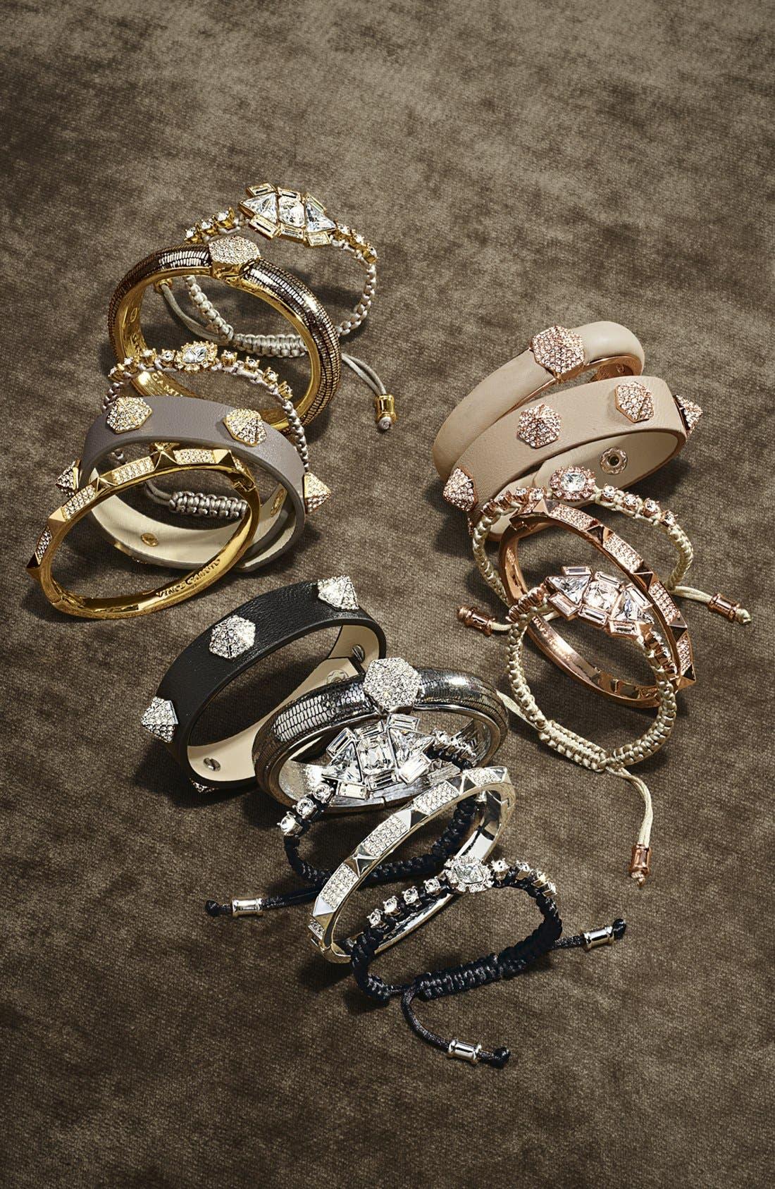 Alternate Image 2  - Vince Camuto Crystal Pavé Studded Leather Bracelet