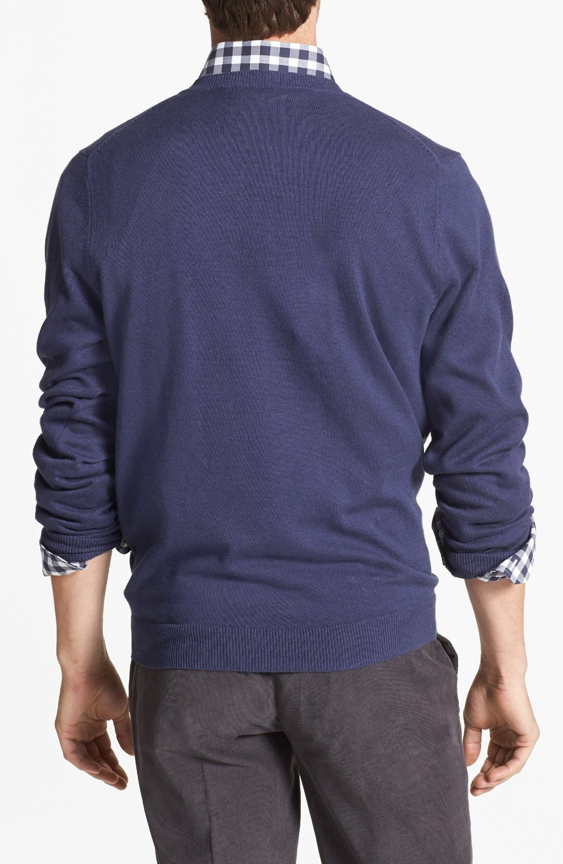 Alternate Image 2  - Wallin & Bros. Trim Fit V-Neck Cotton & Cashmere Sweater