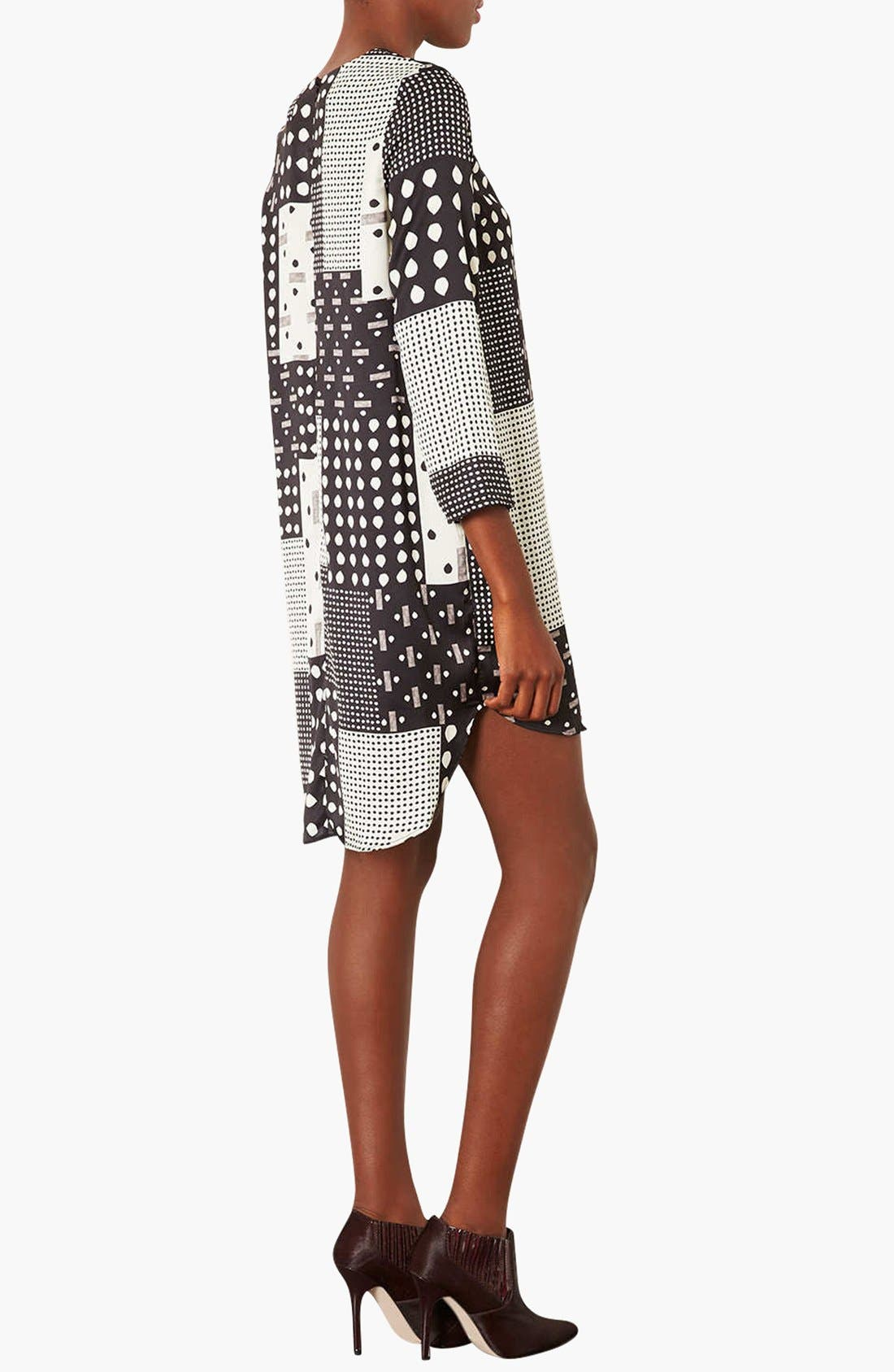 Alternate Image 2  - Topshop 'Patchwork Tear' Tunic Dress