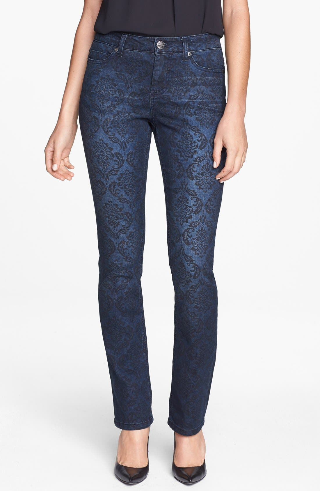 Main Image - Liverpool Jeans Company 'Sadie' Print Straight Leg Jeans