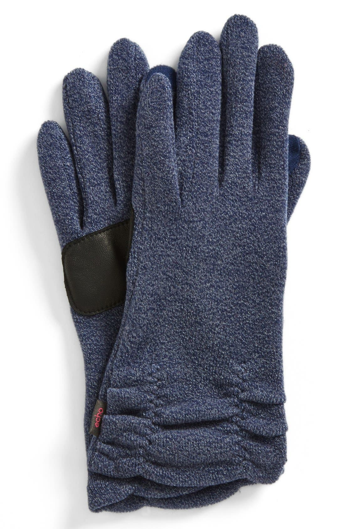 Alternate Image 1 Selected - Echo Ruched Gloves