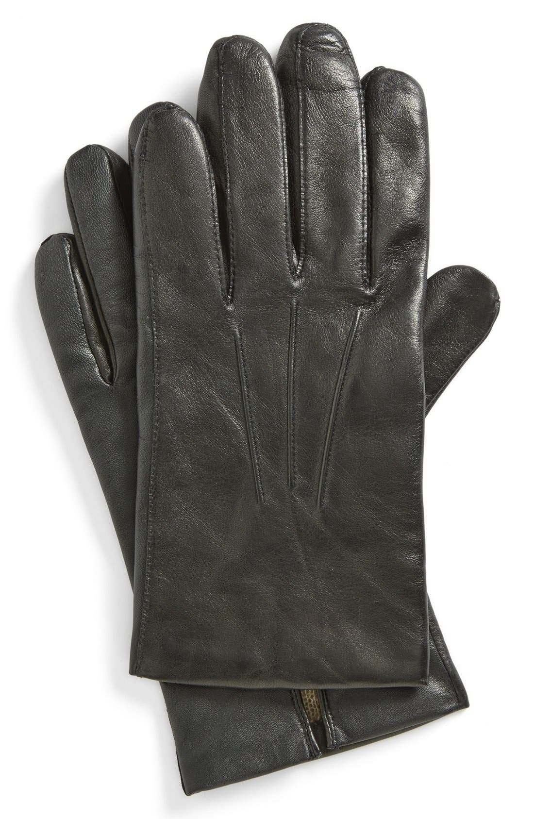 Alternate Image 1 Selected - John W. Nordstrom Tech Leather Gloves