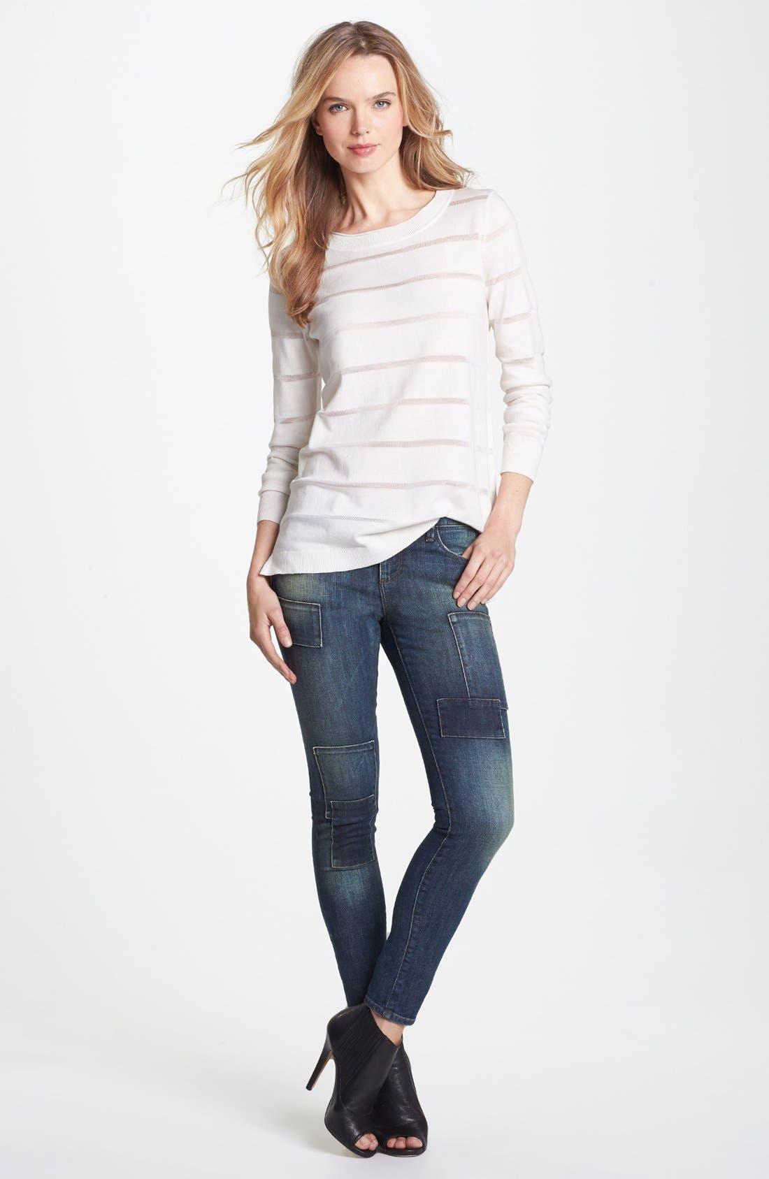Alternate Image 4  - Vince Camuto Illusion Stripe Sweater (Regular & Petite)
