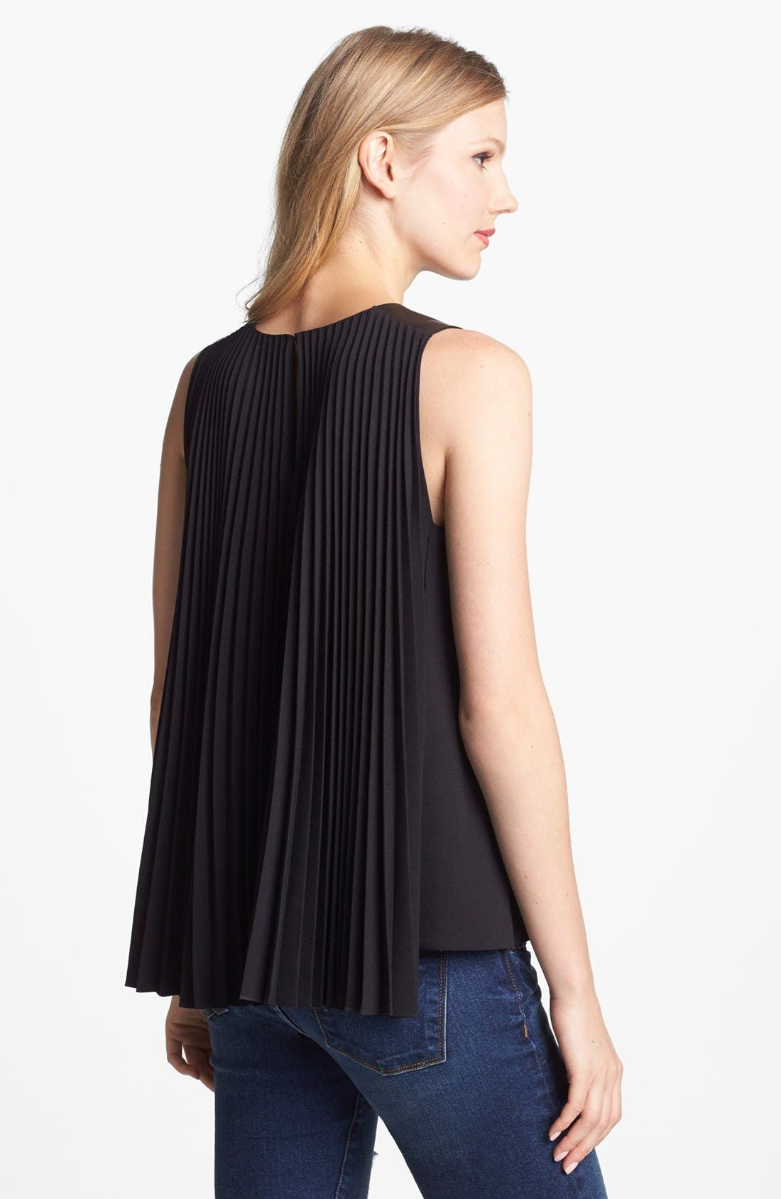 Alternate Image 2  - Vince Camuto Pleated Blouse