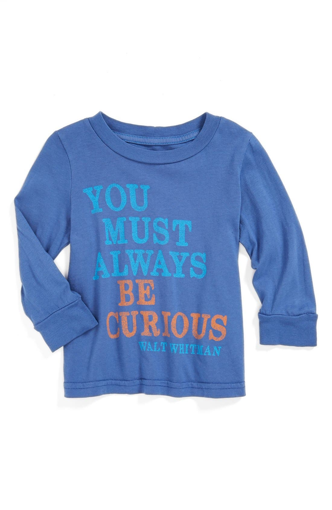 Alternate Image 1 Selected - Peek 'Always Be Curious' T-Shirt (Baby Boys)