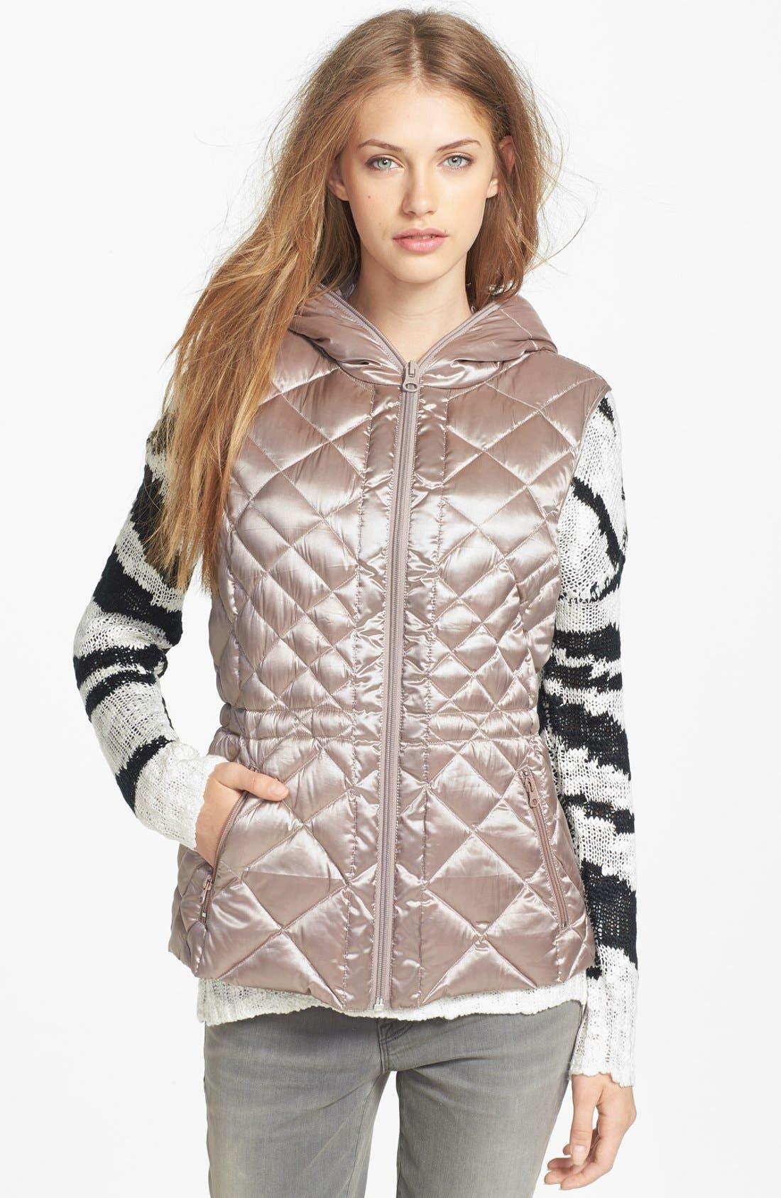Alternate Image 4  - Bernardo Hooded Packable Goose Down Vest (Regular & Petite)