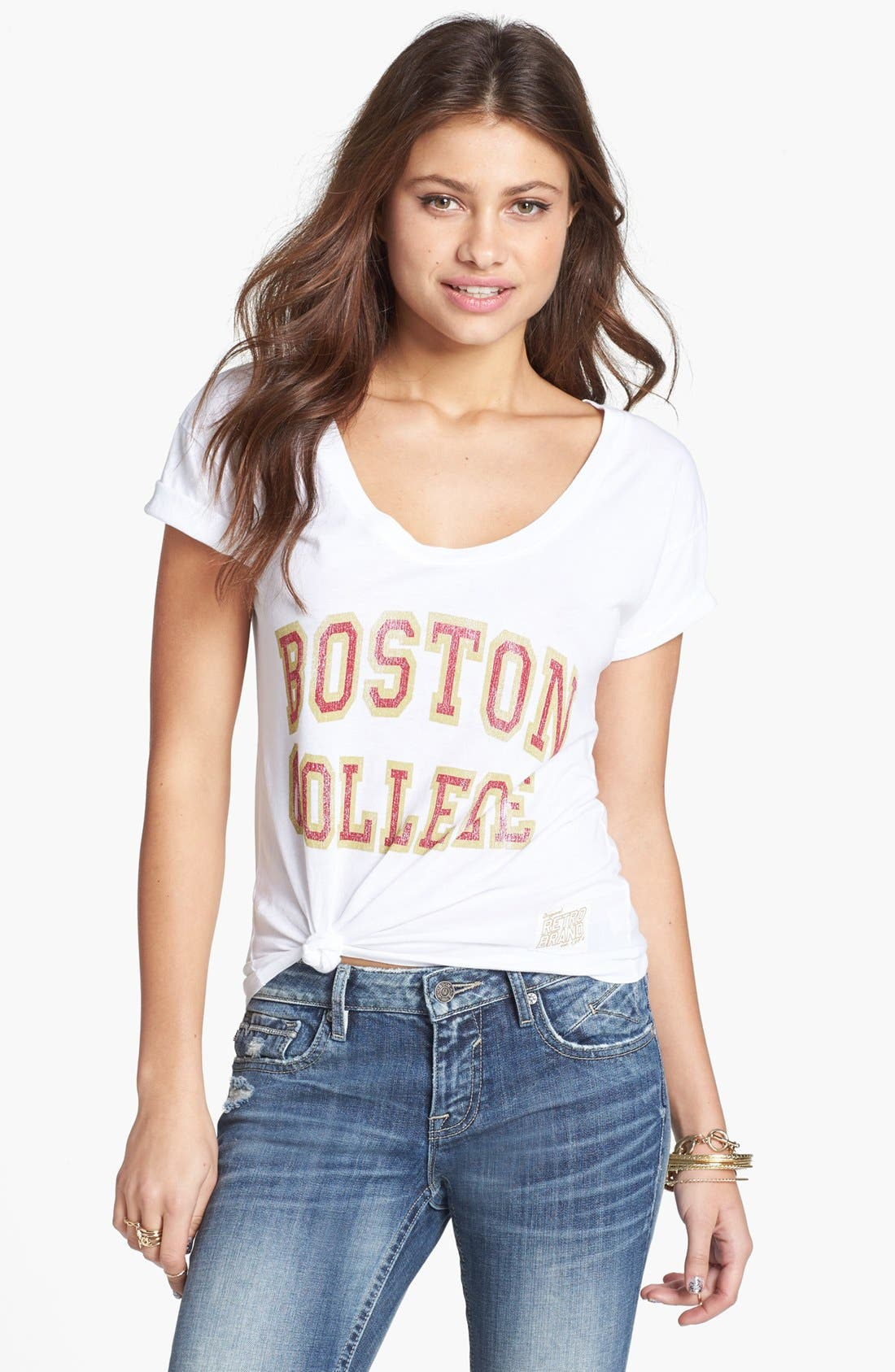 Alternate Image 1 Selected - Retro Brand 'Boston College' Graphic Tee (Juniors)