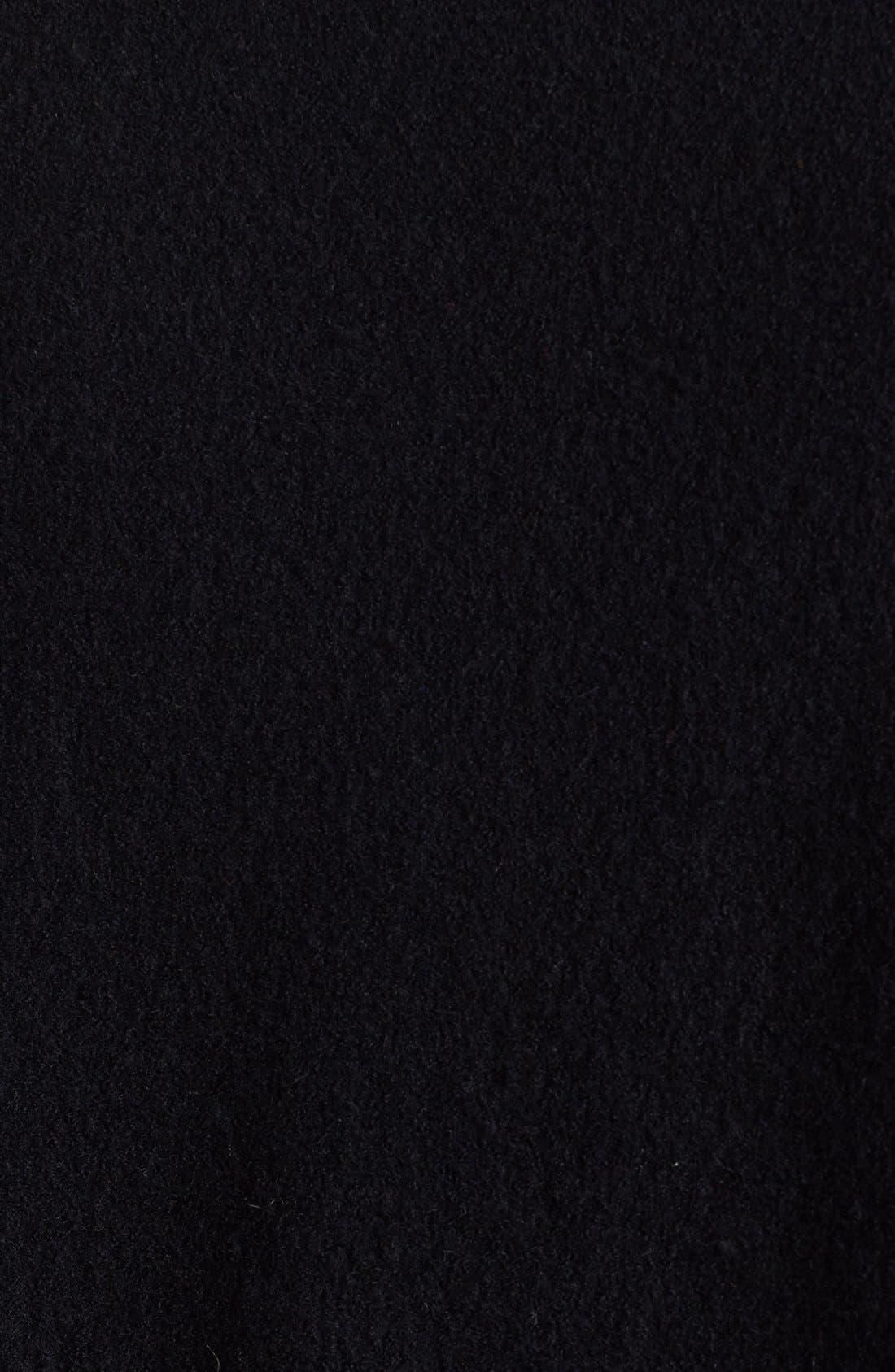 Alternate Image 3  - Halogen® Wool & Faux Leather Jacket (Plus Size)