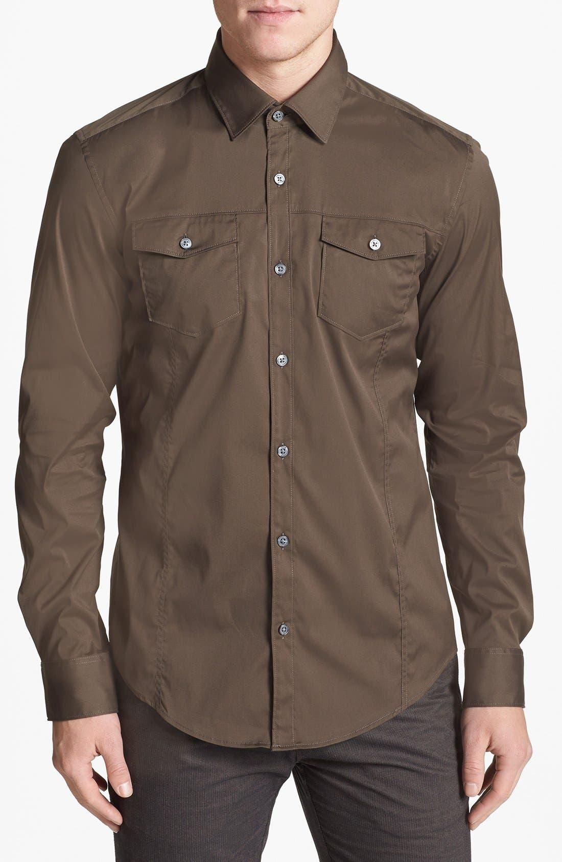 Alternate Image 1 Selected - BOSS HUGO BOSS 'Mirko' Regular Fit Sport Shirt