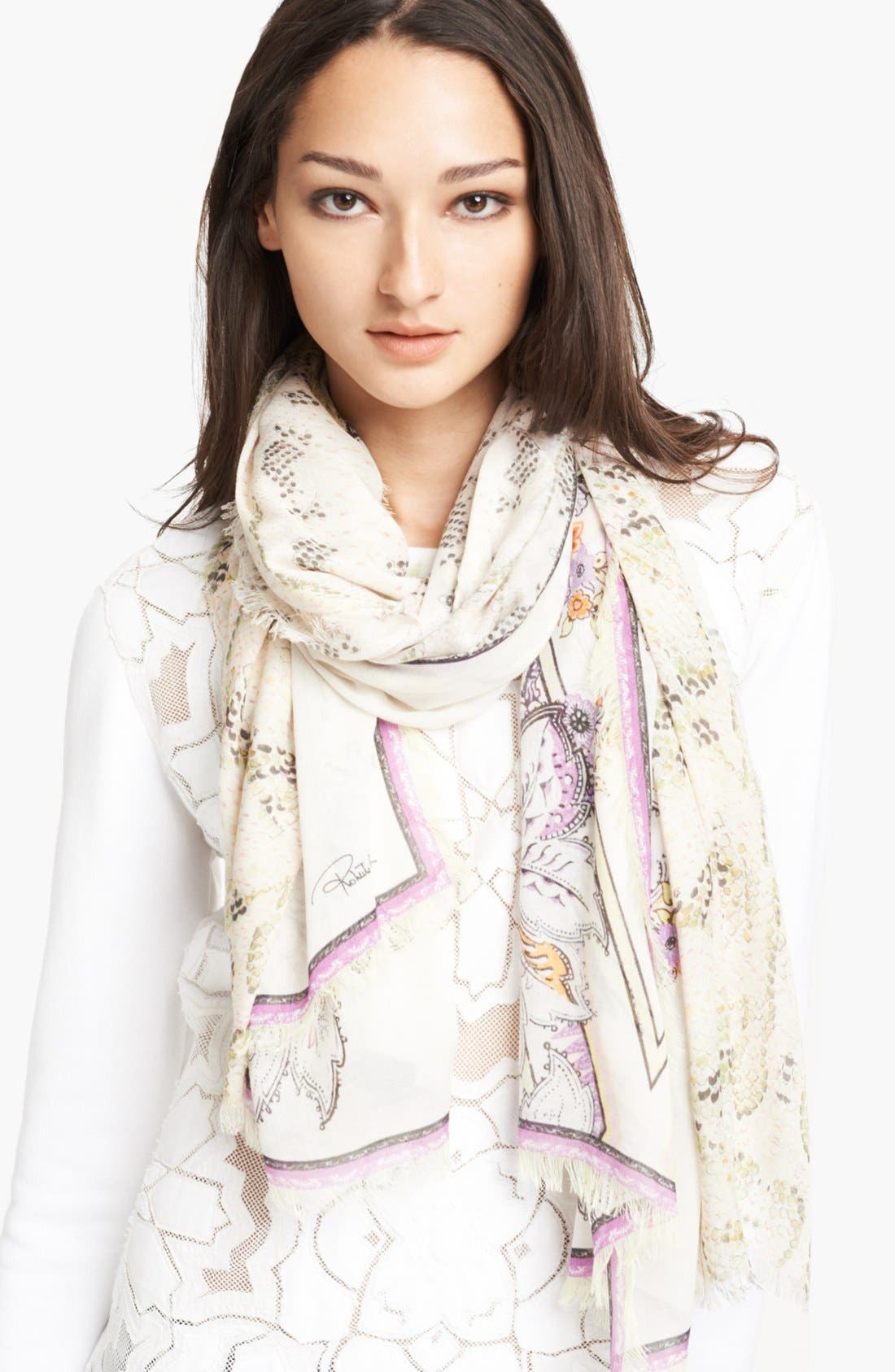Alternate Image 1 Selected - Roberto Cavalli Print Rectangular Scarf