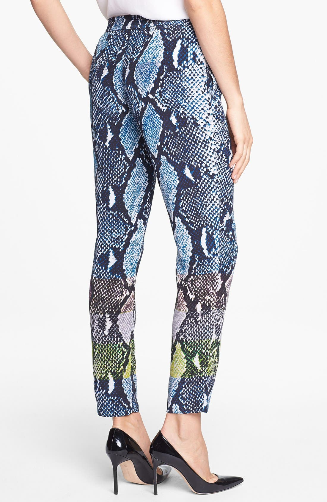 Alternate Image 2  - Diane von Furstenberg 'Benett Two' Snake Print Silk Pants