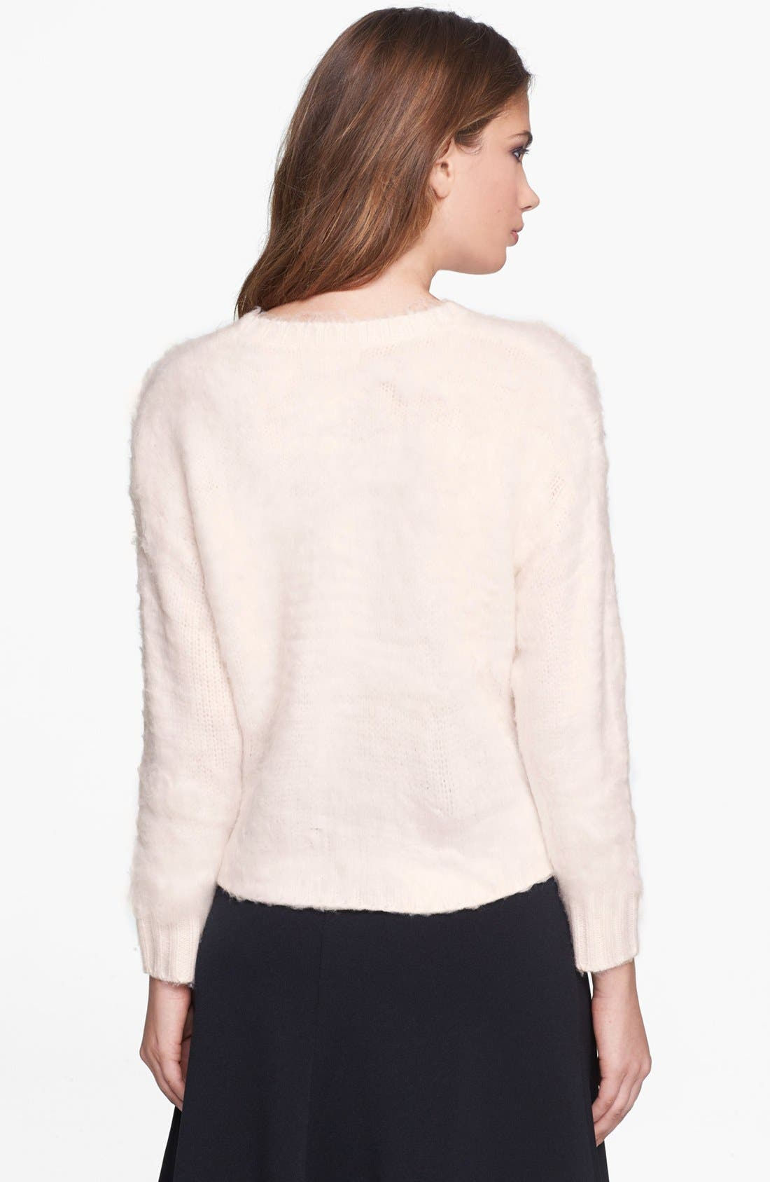 Alternate Image 2  - Leith Fuzzy Crop Pullover