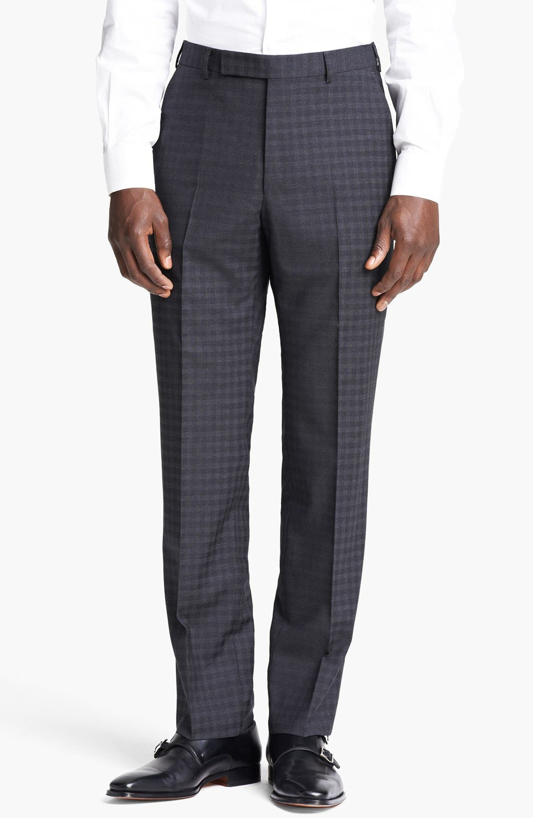 Alternate Image 5  - Z Zegna 'City' Dark Grey Check Wool Suit