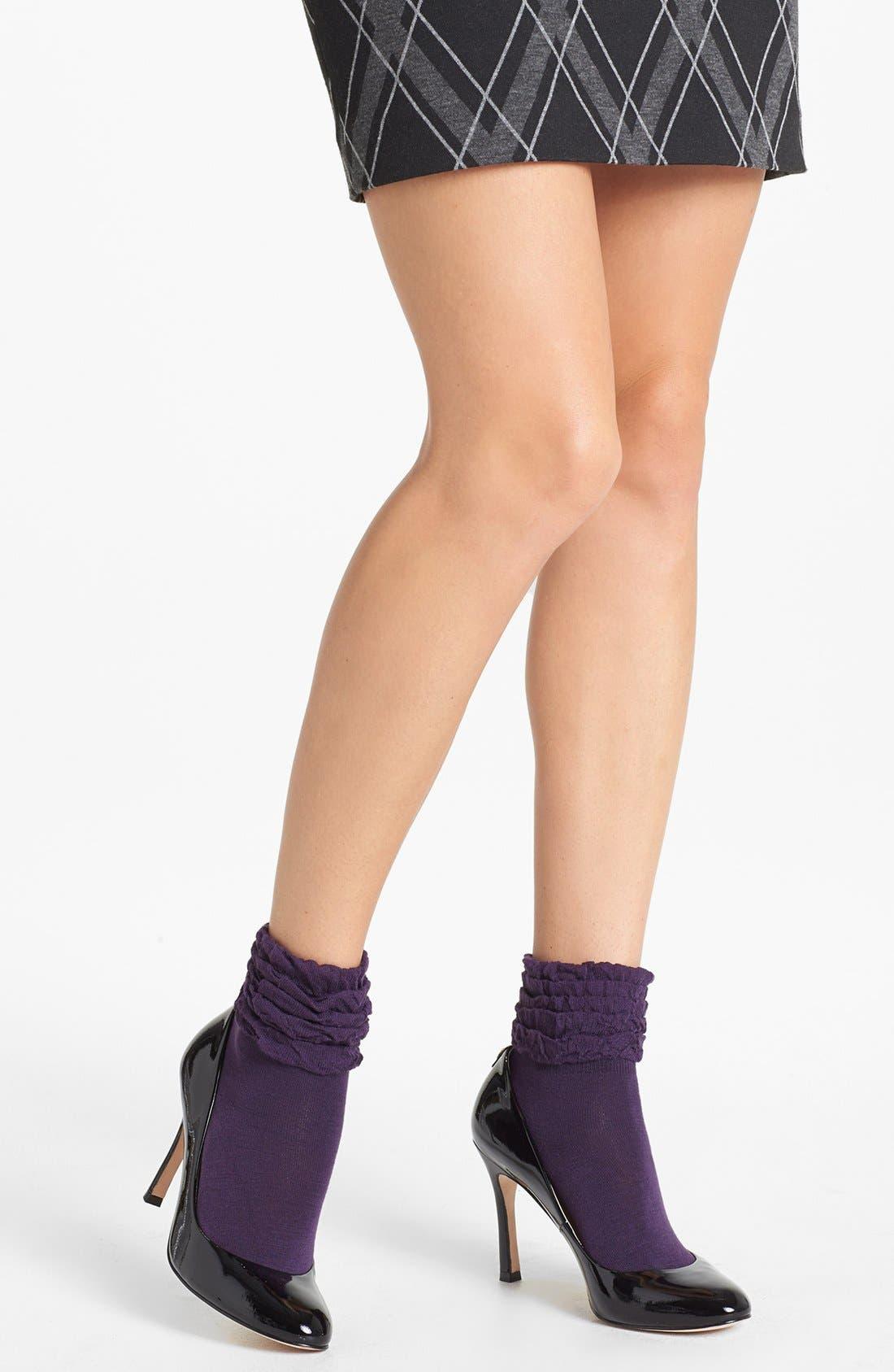 Alternate Image 1 Selected - kensie Multi Ruffle Socks