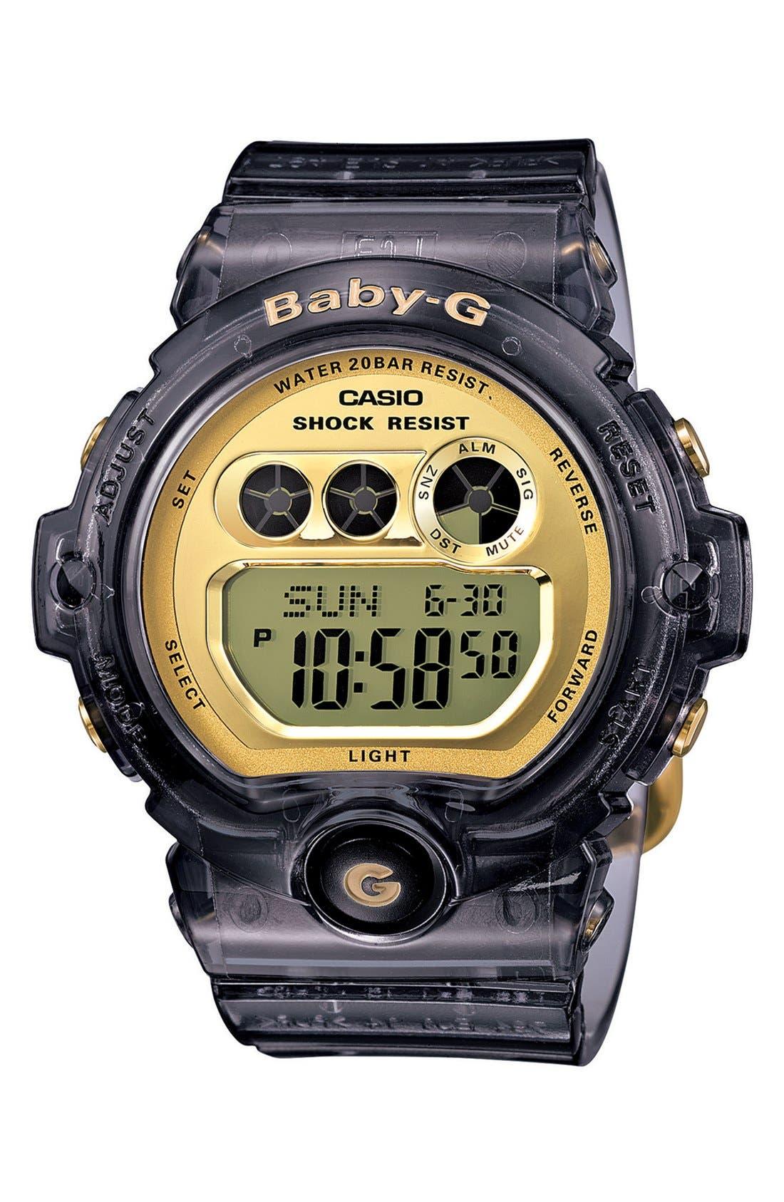 Alternate Image 1 Selected - Baby-G 'Transparent Marine' Digital Watch, 45mm x 39mm
