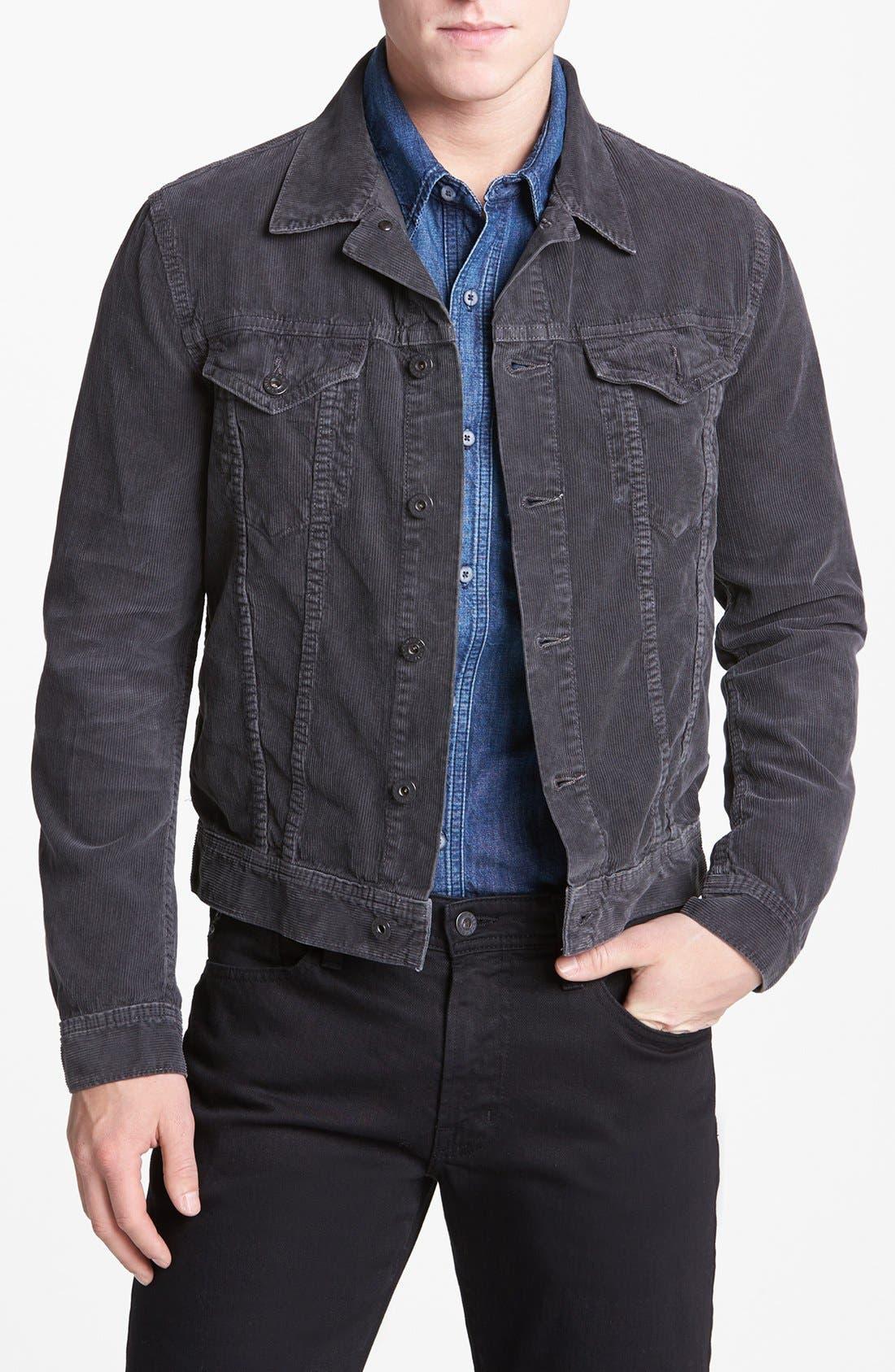 Alternate Image 1 Selected - AG Jeans 'Jake' Slim Fit Corduroy Jacket