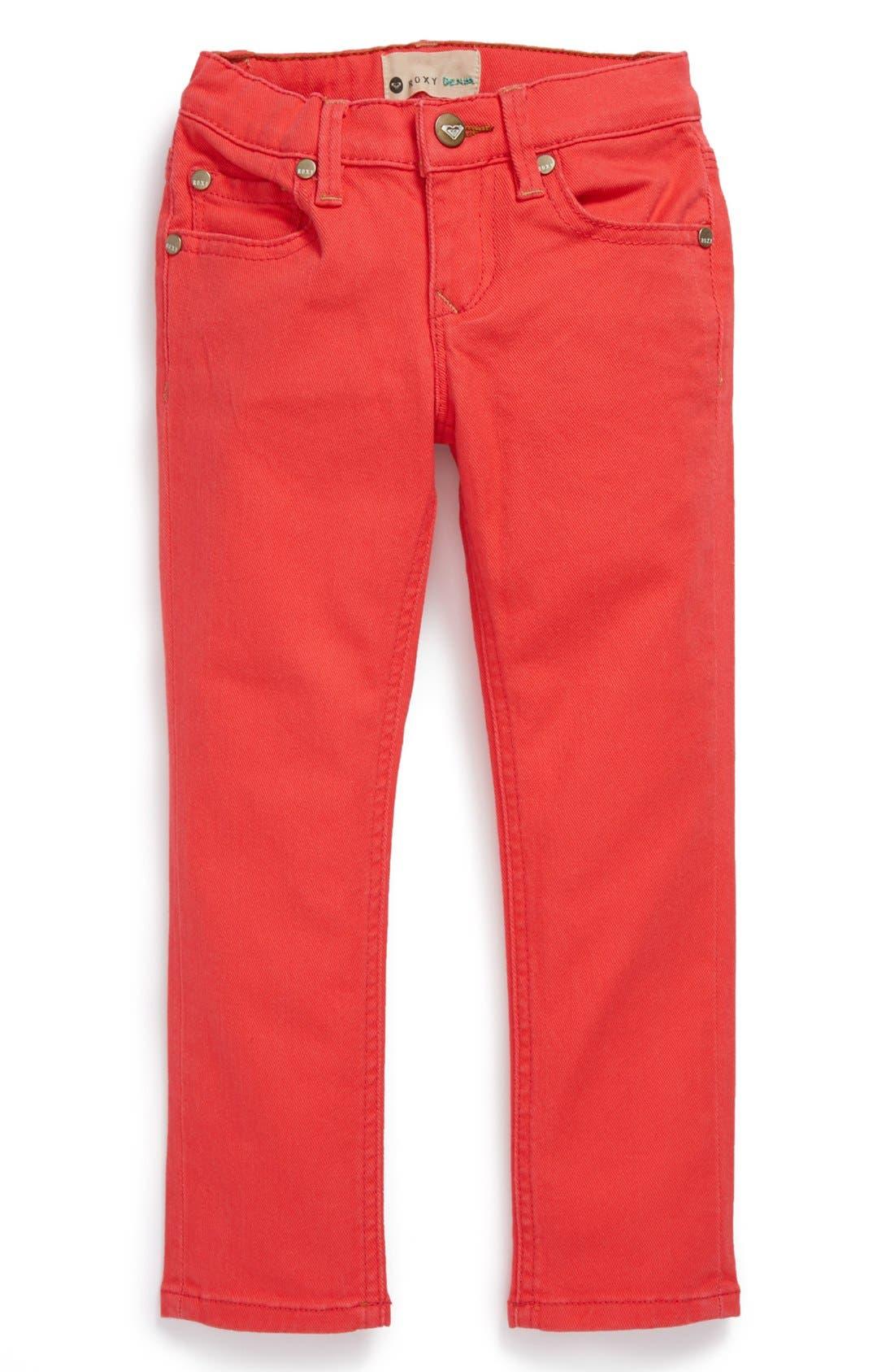 Alternate Image 2  - Roxy 'Skinny Rails' Skinny Jeans (Little Girls)