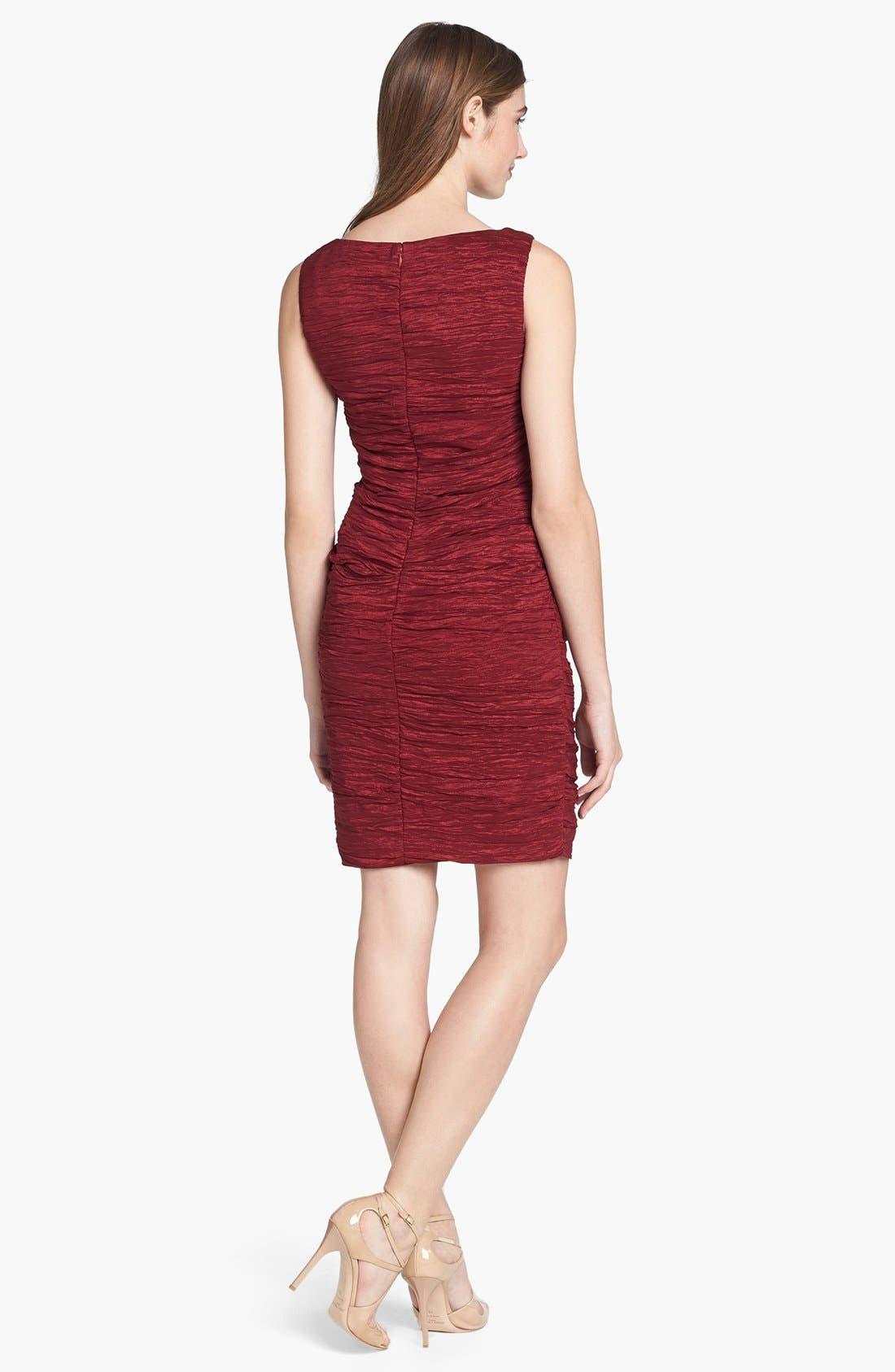 Alternate Image 2  - Calvin Klein Crinkled Taffeta Sheath Dress