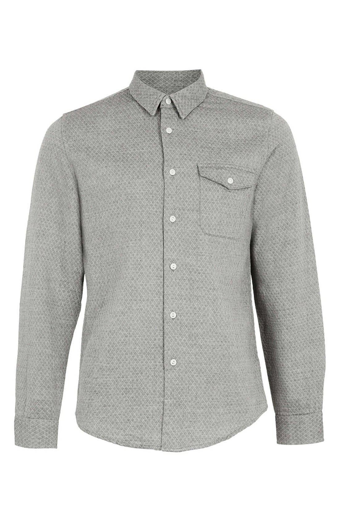 Alternate Image 1 Selected - Topman Quilted Shirt
