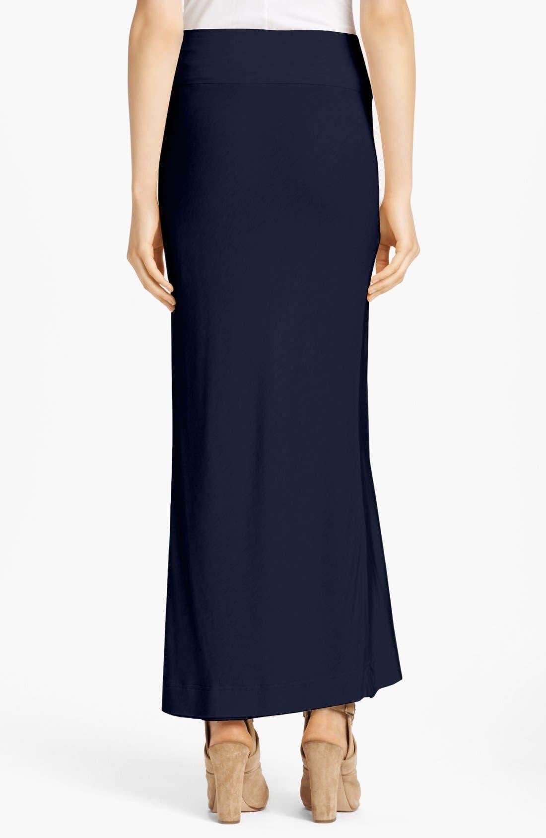 Alternate Image 2  - Donna Karan Casual Luxe Satin & Jersey Bias Cut Skirt