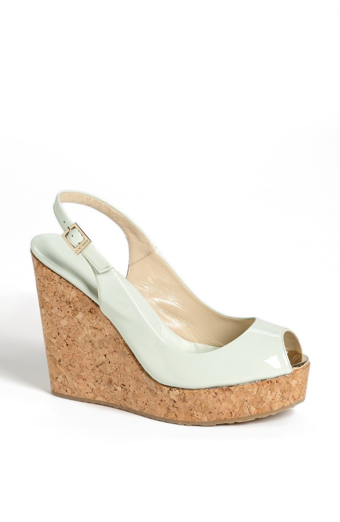 Main Image - Jimmy Choo 'Prova' Cork Slingback Wedge Sandal