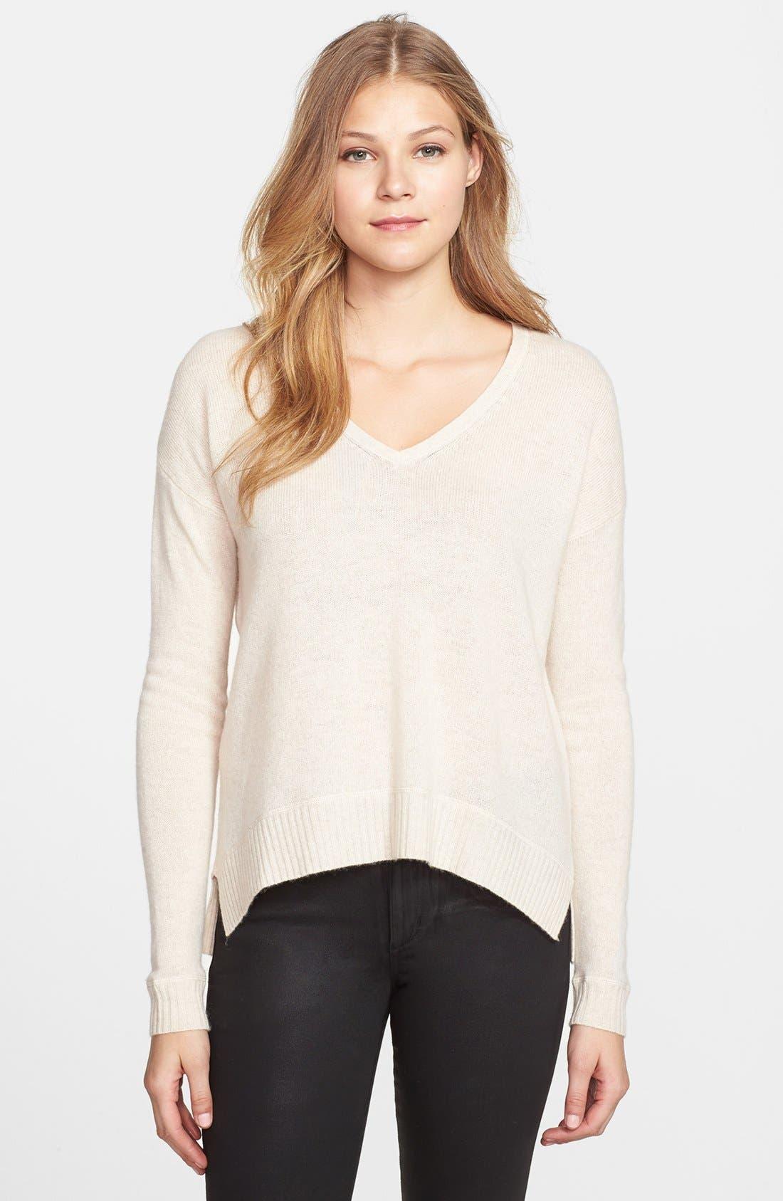 Alternate Image 1 Selected - Halogen® Wool & Cashmere Sweater (Regular & Petite)